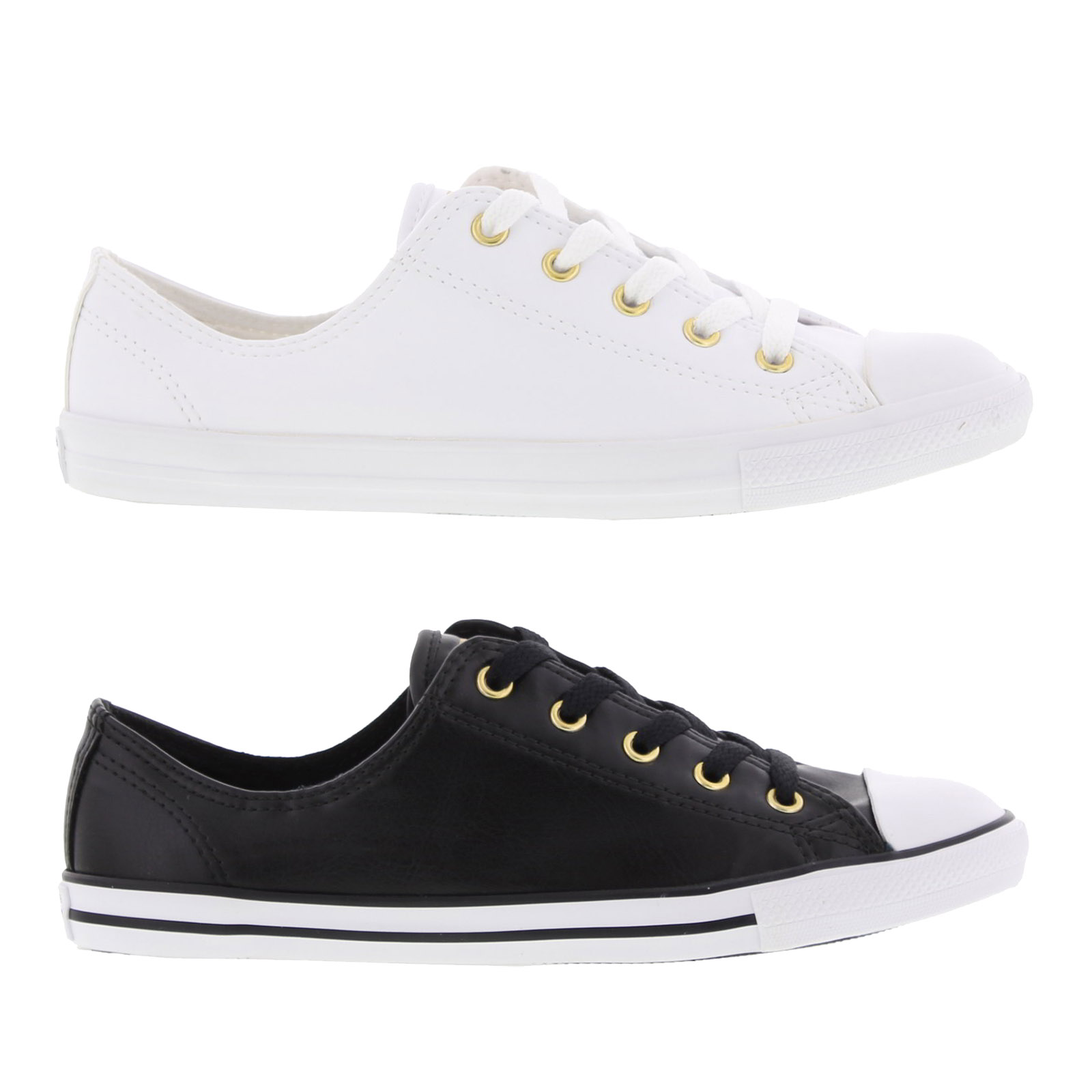 0b27778c0ced Details about Converse All Star Dainty Oxford Womens Classic Synthetic  Leather Shoes Trainers