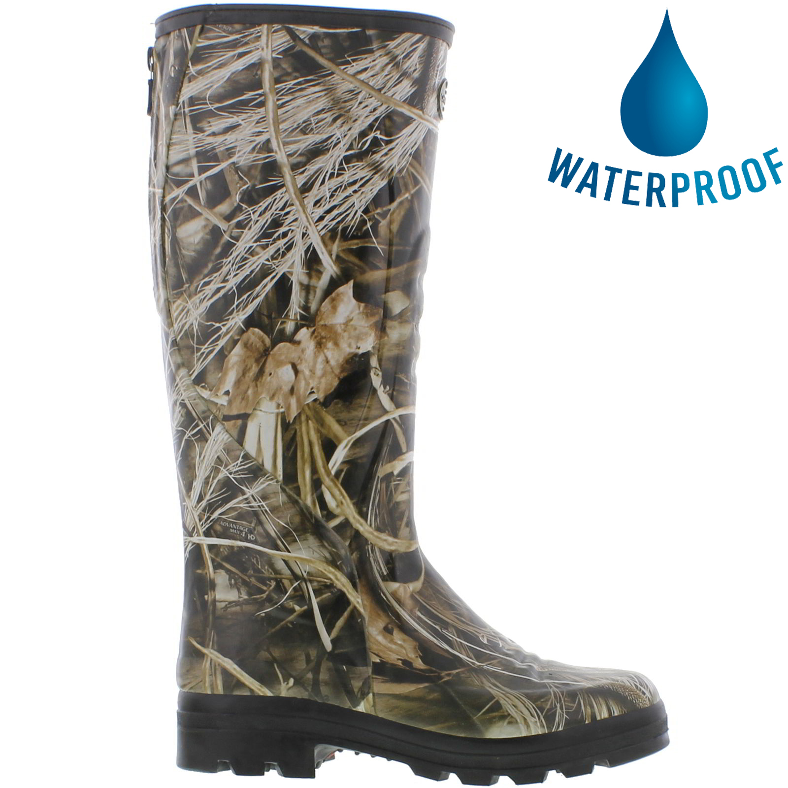 Details about Le Chameau Traqueur Camo Mens Hunting Zip Up Wellies Wellington Boots Size 8 12