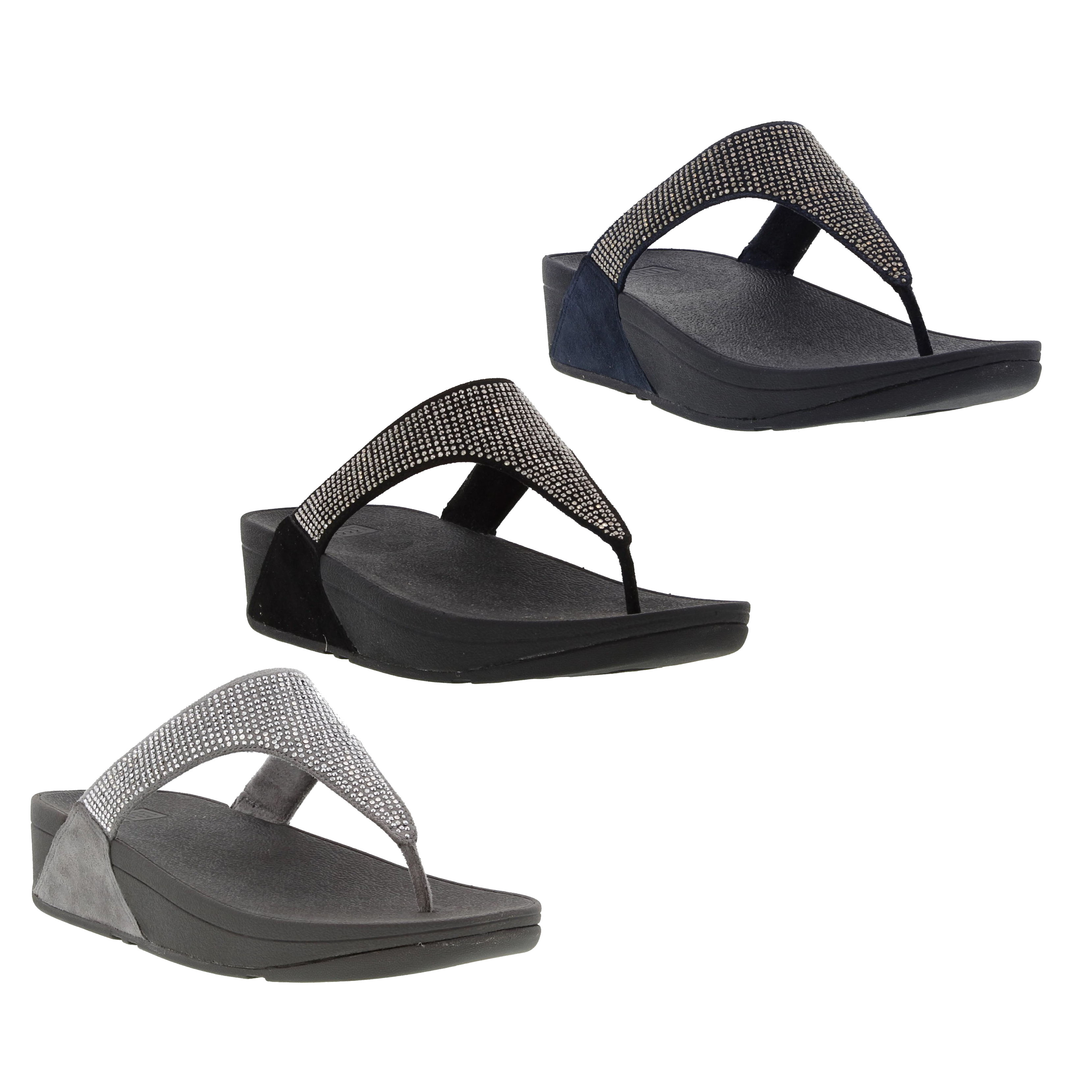 28f4d29fc Fitflop Slinky Rokkit Toe Post Sandals Womens Flip Flop Black Navy ...