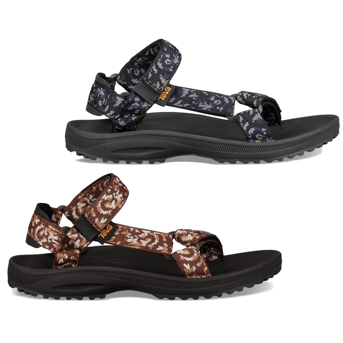 Teva Winsted Mens Grey Black Adjustable Walking Watersport Sandals Size UK 7-12