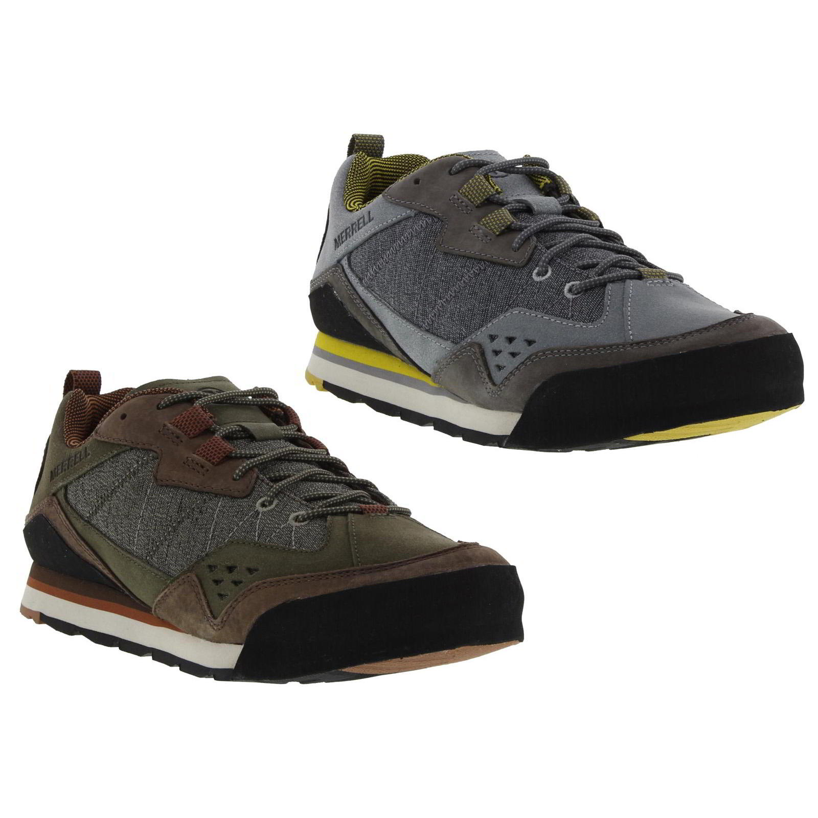 f926333c6c07b Details about Merrell Burnt Rock Mens Grey Brown Leather Walking Shoes  Trainers Size UK 8-11