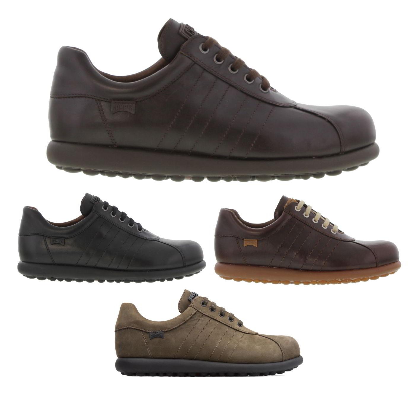 Details zu Camper Pelotas Ariel 16002 Mens Brown Black Leather Shoes Trainers Size 8 12