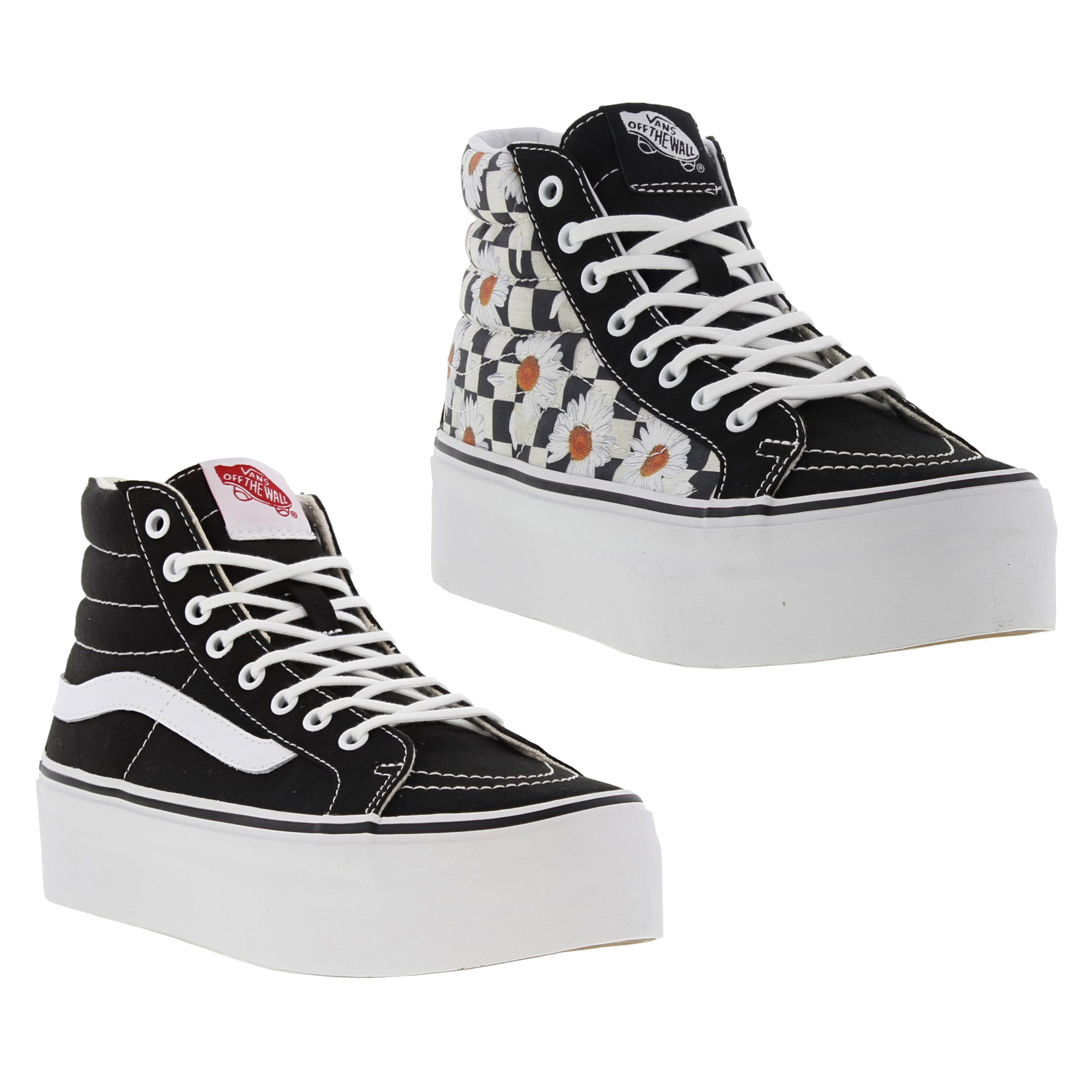 Details about Vans Sk8 Hi Platform Womens Ladies Chunky Hi Top Trainers  Black White Size UK 3- a1d24ef17c