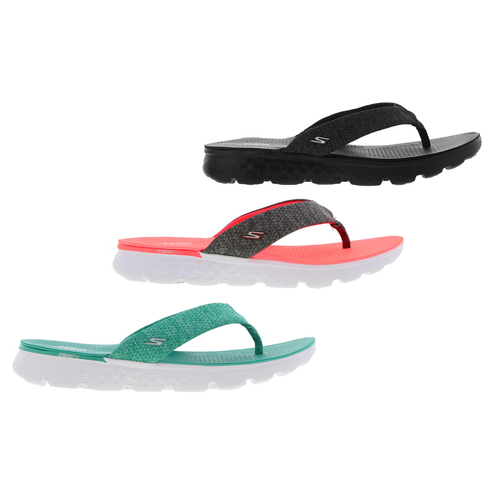 34c4cb01c745 Skechers On The Go Vivacity Womens Top Post Flip Flops Sandals Size ...