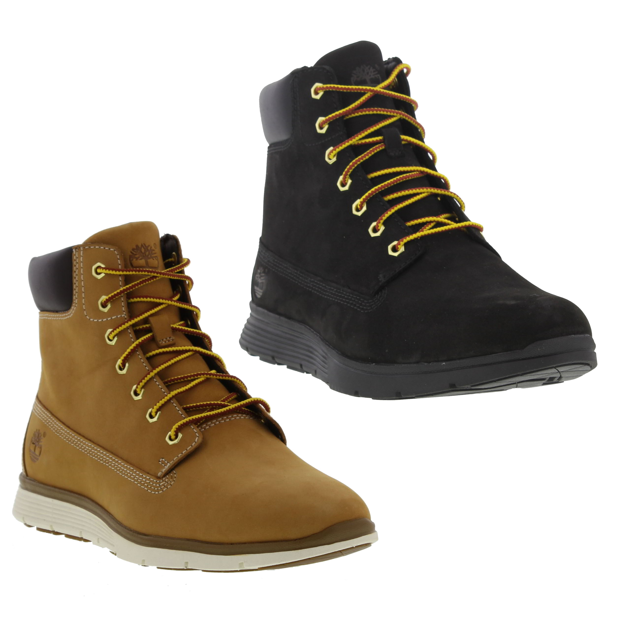 50fb6a55fbe1f Timberland Killington 6 Inch Mens Black Wheat Leather Boots Size UK ...