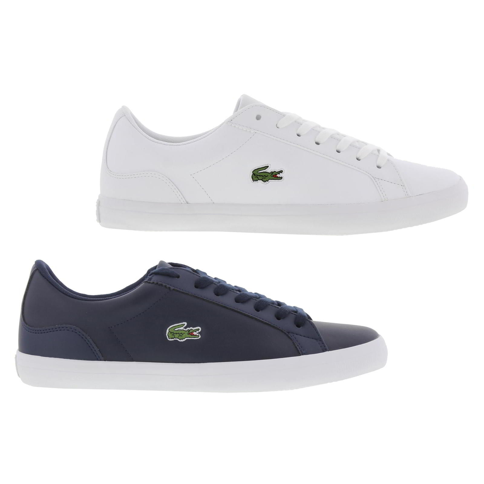 4f064f119ef6a8 Lacoste Lerond BL 1 Mens White Leather Lace Up Trainers Shoes Size ...
