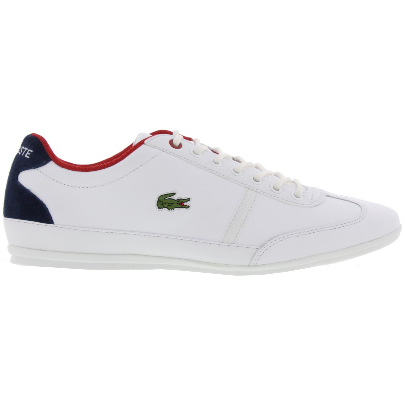 770abaa90e03 Details about Lacoste Misano Sport 317 1 Mens White Leather Trainers Shoes  Size UK 7-12