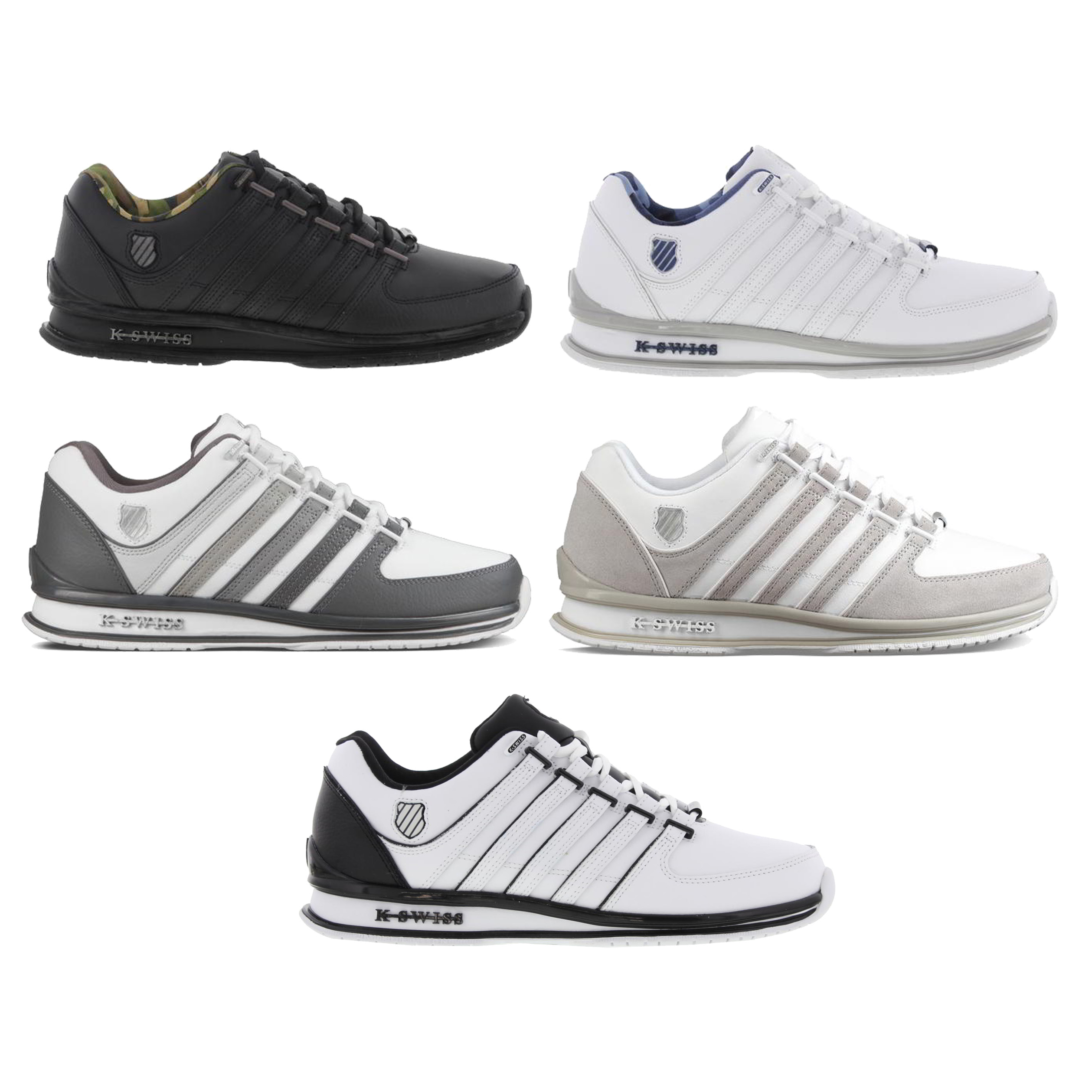 fd197432c59402 Details about K Swiss Rinzler SP Mens Classic White Black Grey Trainers  Shoes Size UK 7-12