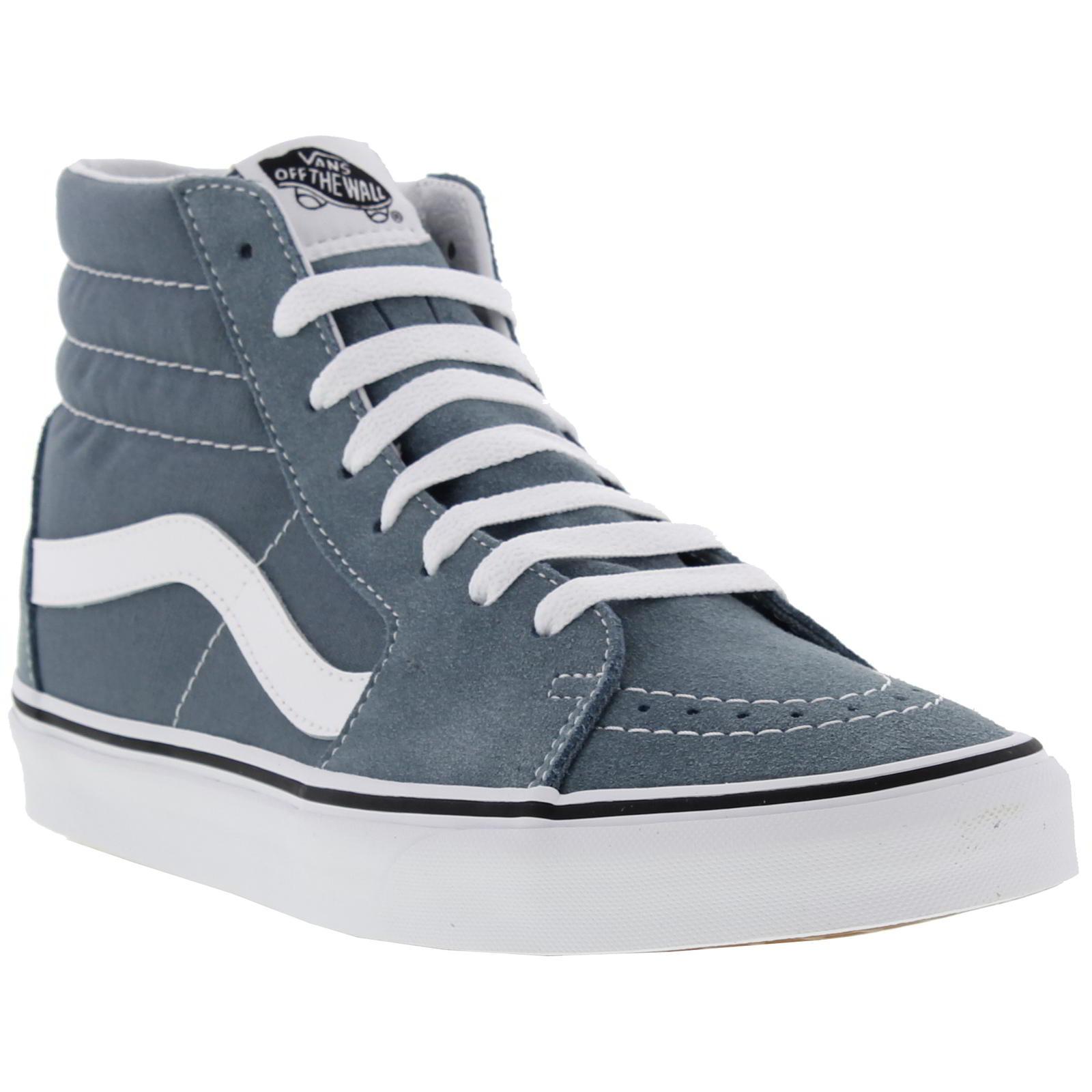 df31dc8d30df Detalles de Vans Sk8 Hi para hombre azul ante y lona Hi Top Botas  Zapatillas Size UK 8-9- ver título original