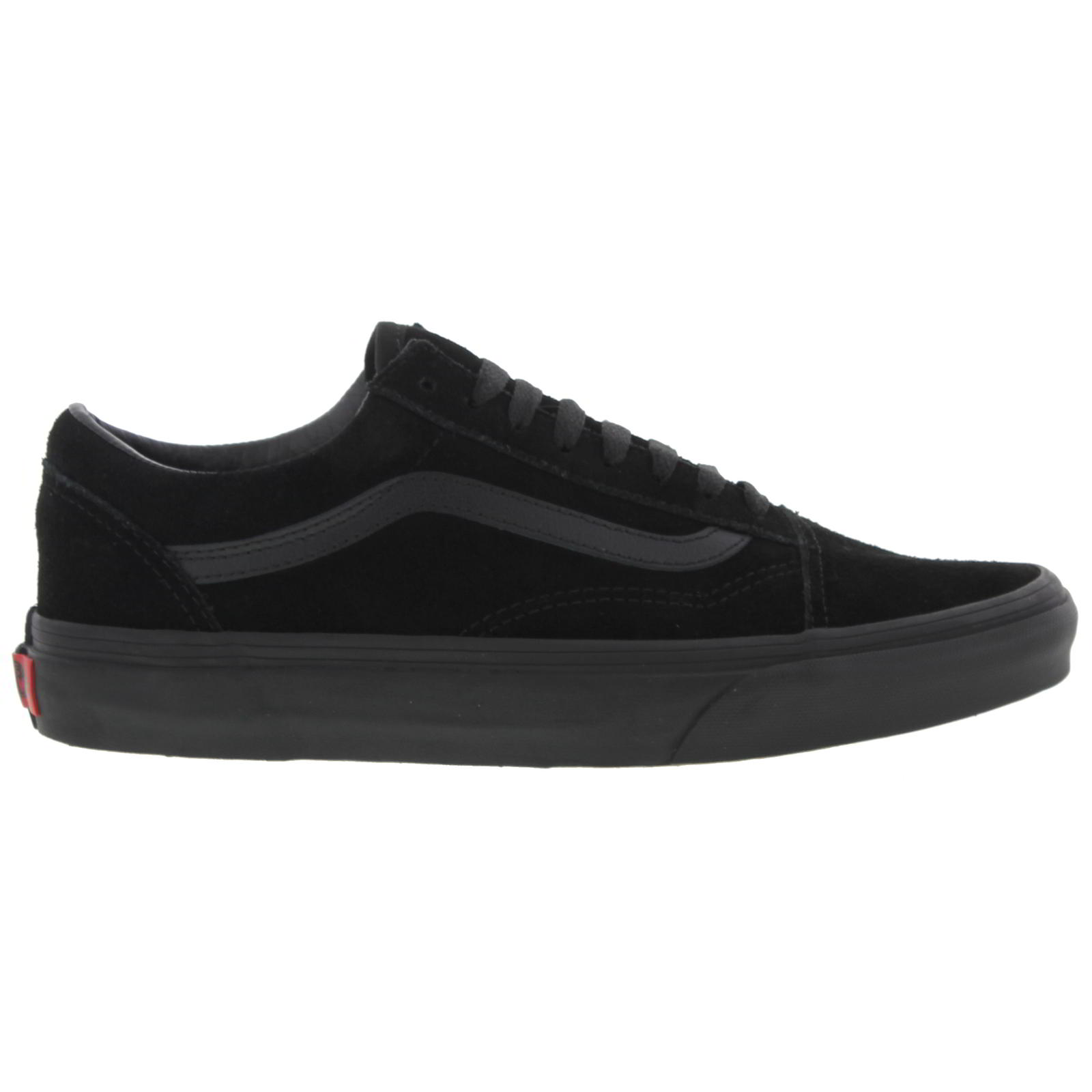 Details about Vans Old Skool Mens Womens All Black Suede Leather Trainers  Size UK 4-11 50ac63237