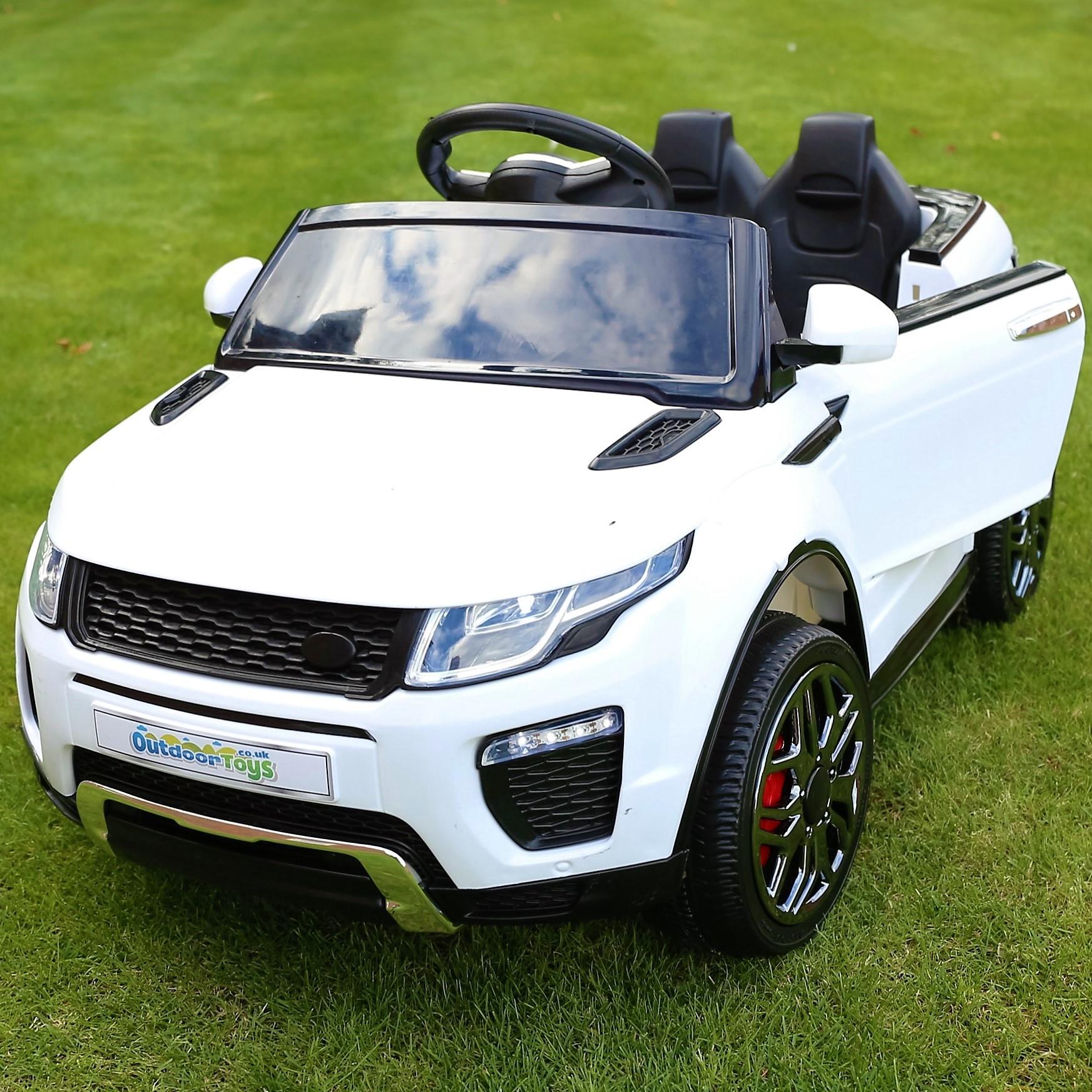 12v Range Rover Evoque Style Child S Ride On Car Jeep White
