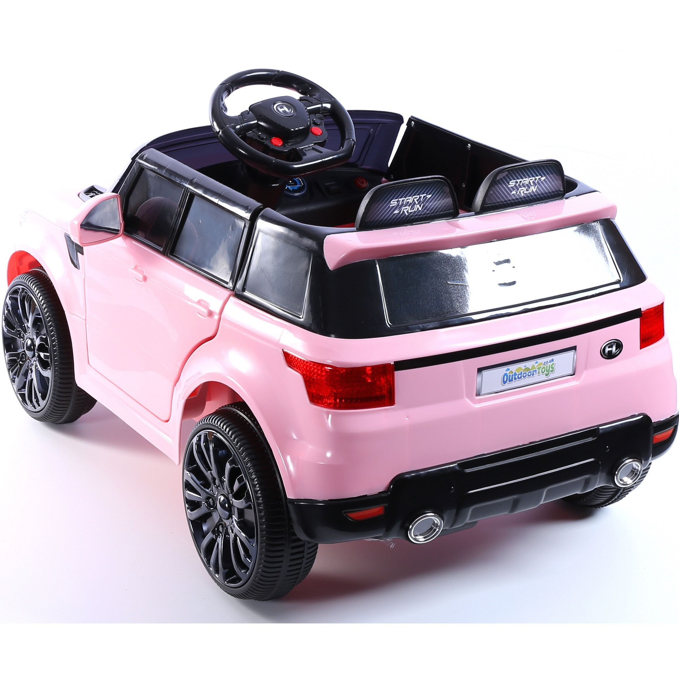 12v range rover style mini hse children s single seat ride on jeep pink 5060225288442 ebay. Black Bedroom Furniture Sets. Home Design Ideas