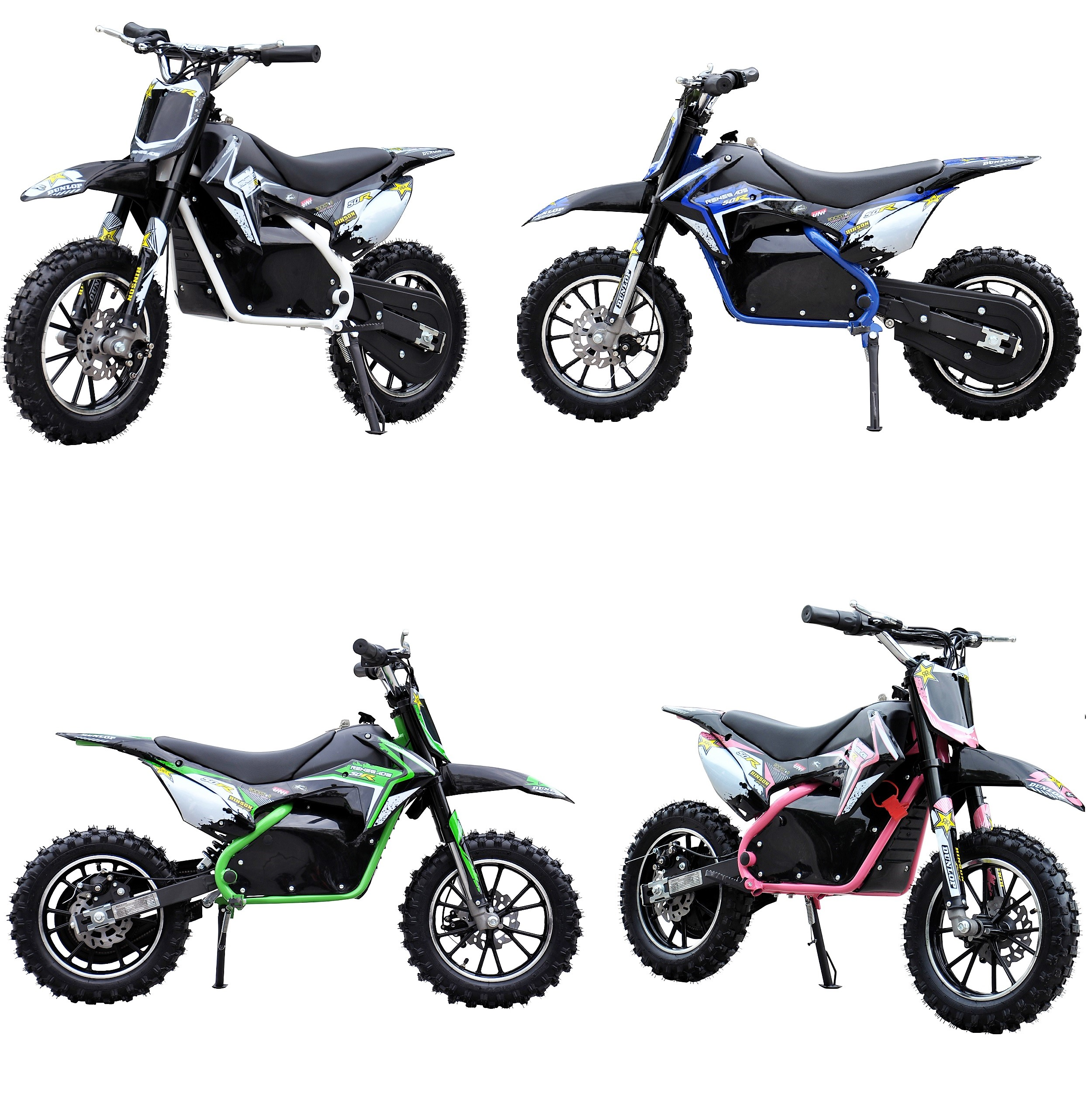 renegade 50r 500w 36v electric mini dirt bike motocross. Black Bedroom Furniture Sets. Home Design Ideas