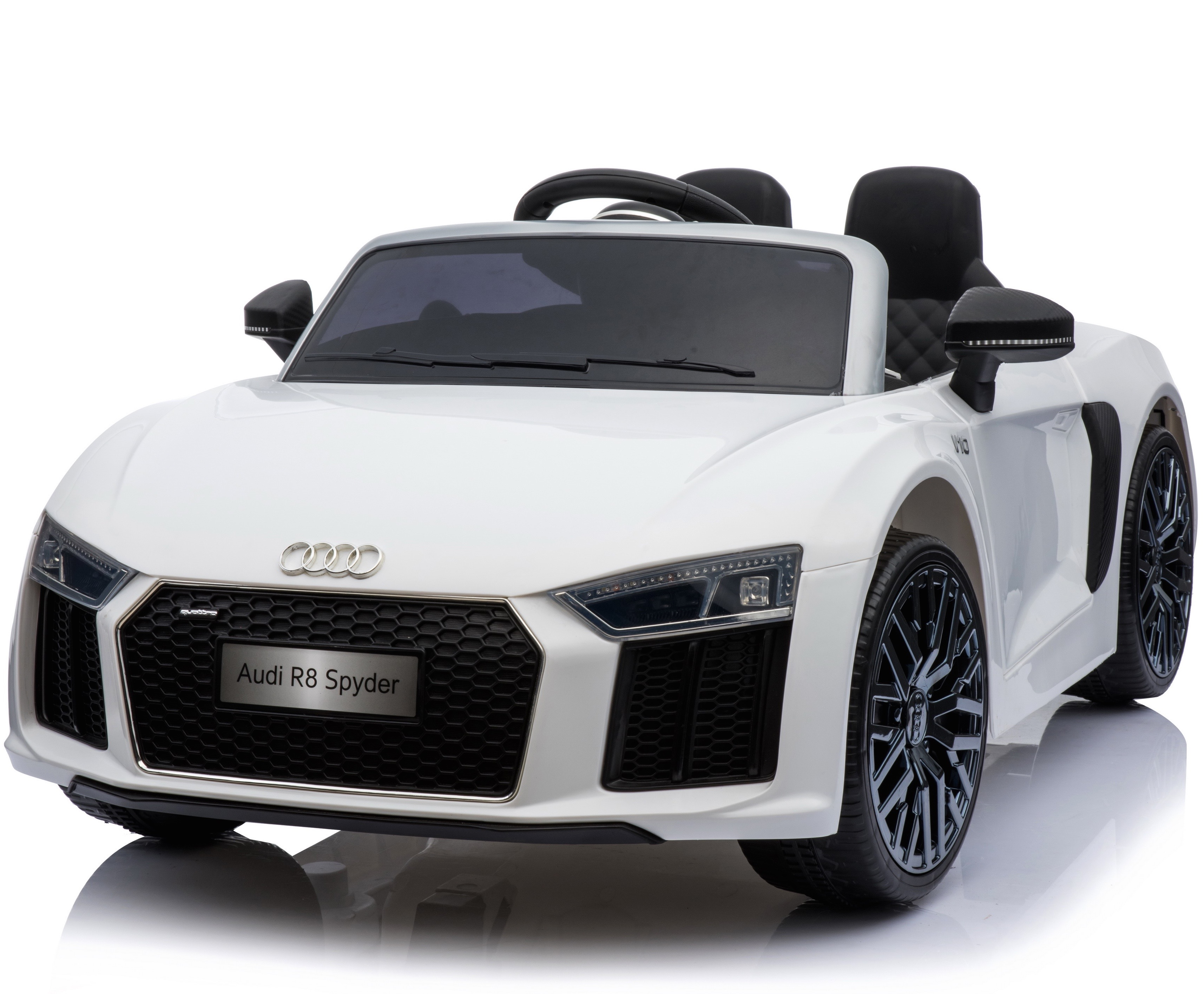 Electric Ride On Cars >> Details About New Shape Licensed Audi R8 Spyder 12v Child S Electric Ride On Car White