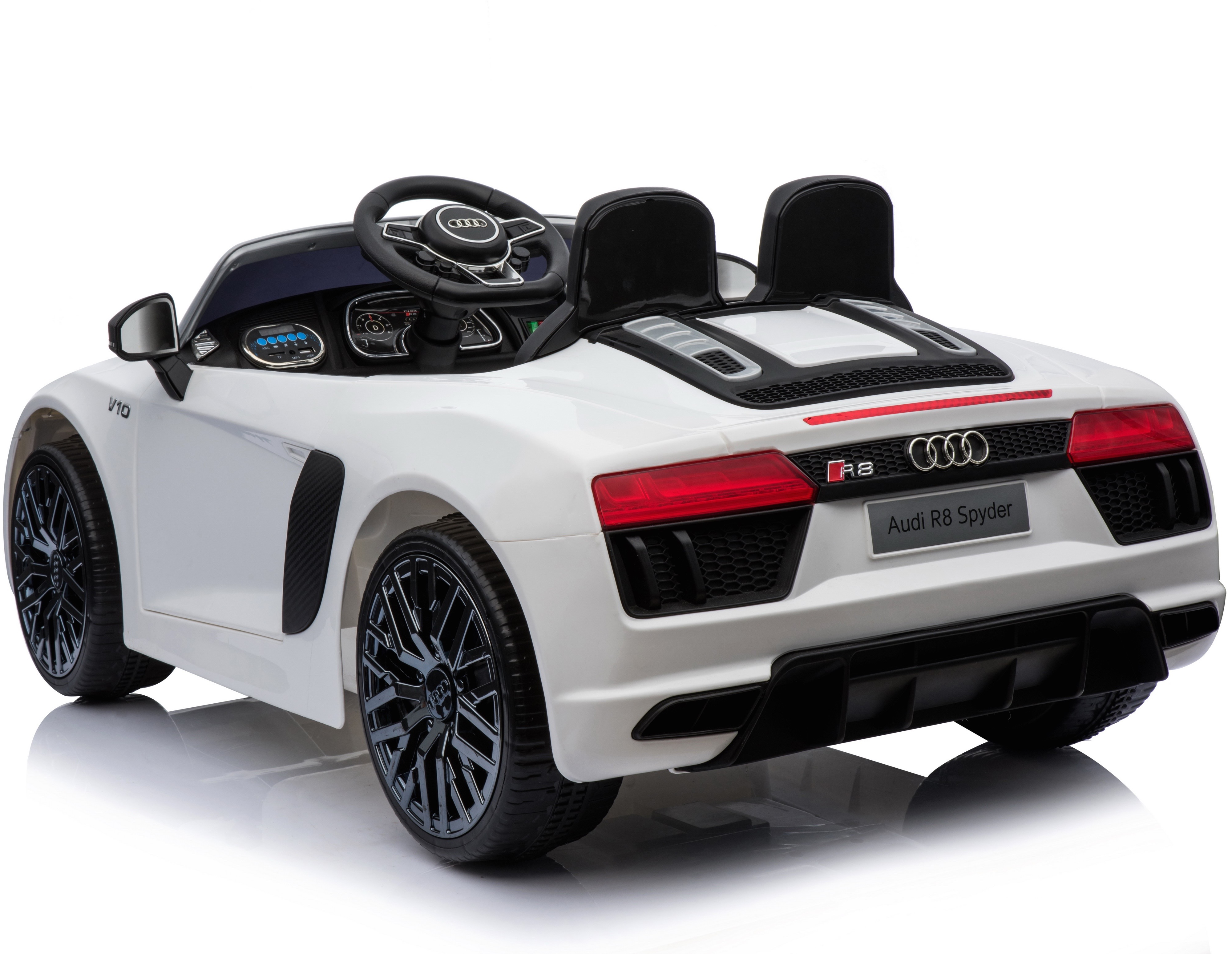 ece42cc98ee76 New Shape Licensed Audi R8 Spyder 12V Child s Electric Ride On Car - White