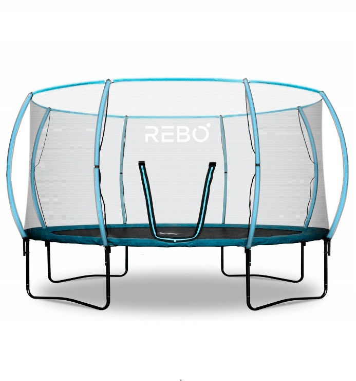 Rebo Jump Zone 14ft Trampoline With Halo Safety Enclosure 5060567550825 Ebay