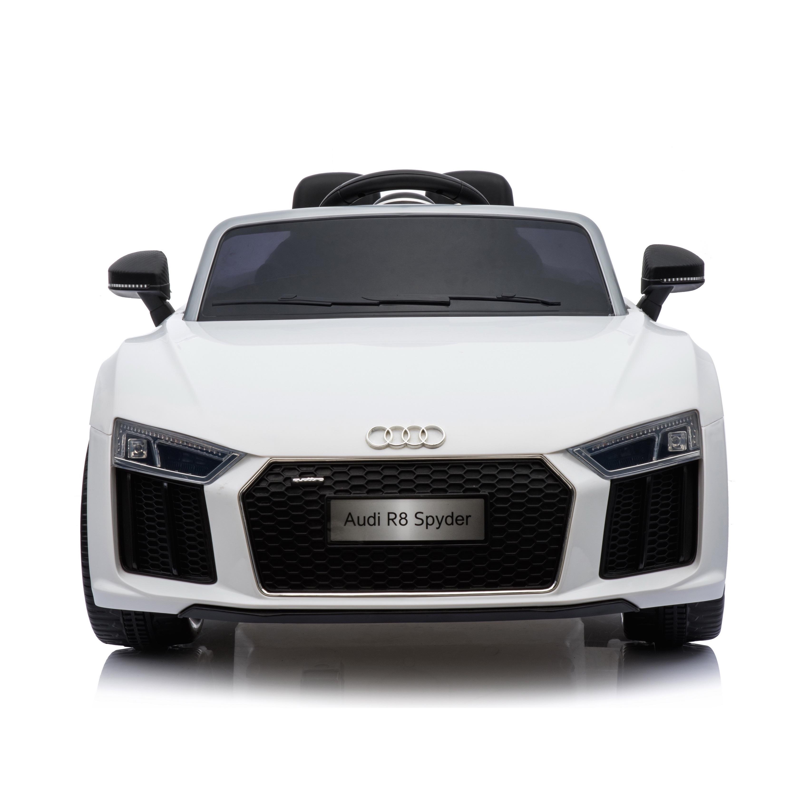 Compact Licensed Audi R Spyder V Childrens Electric Ride On Car - White audi r8