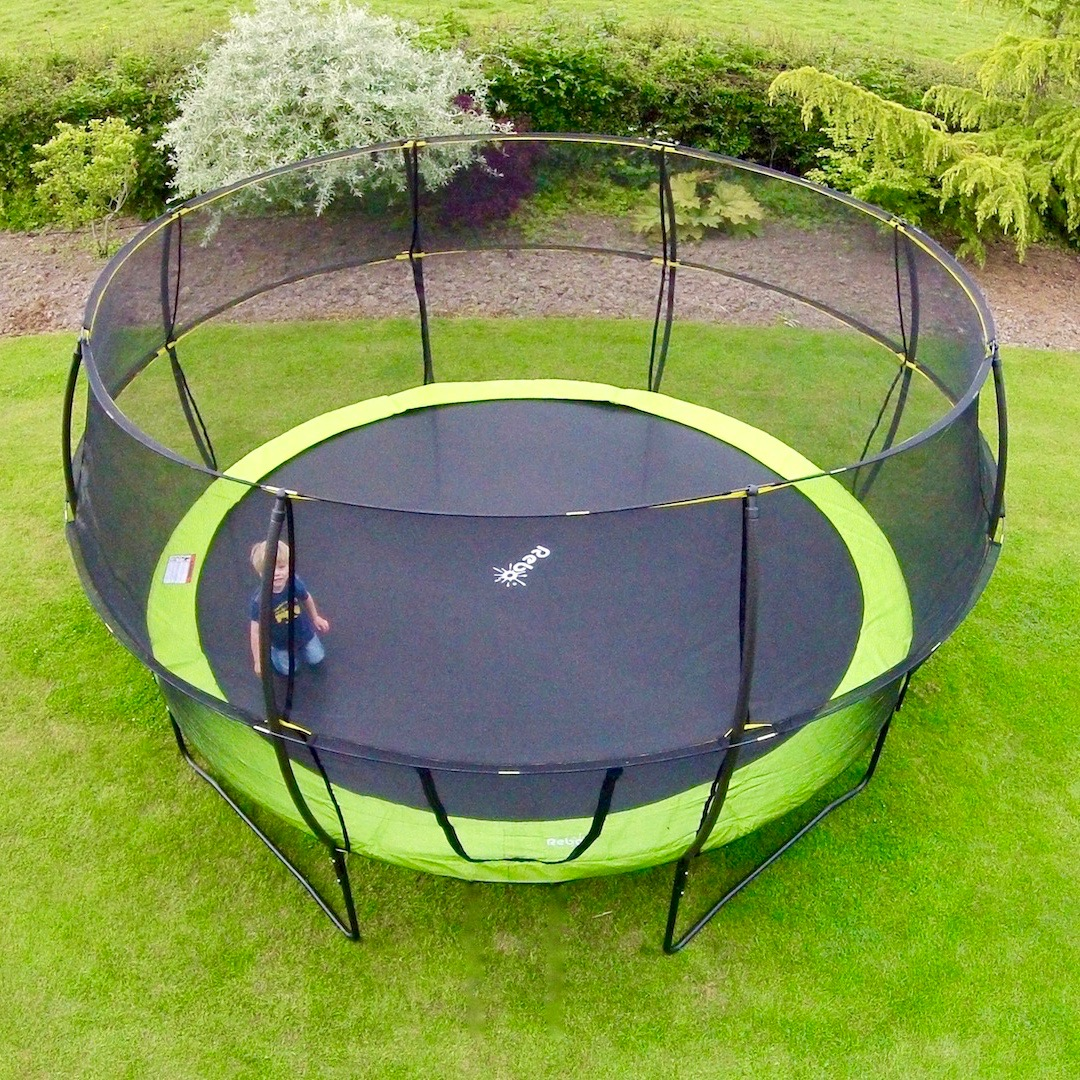 Rebo 12ft Base Jump Trampoline With Halo Ii Enclosure