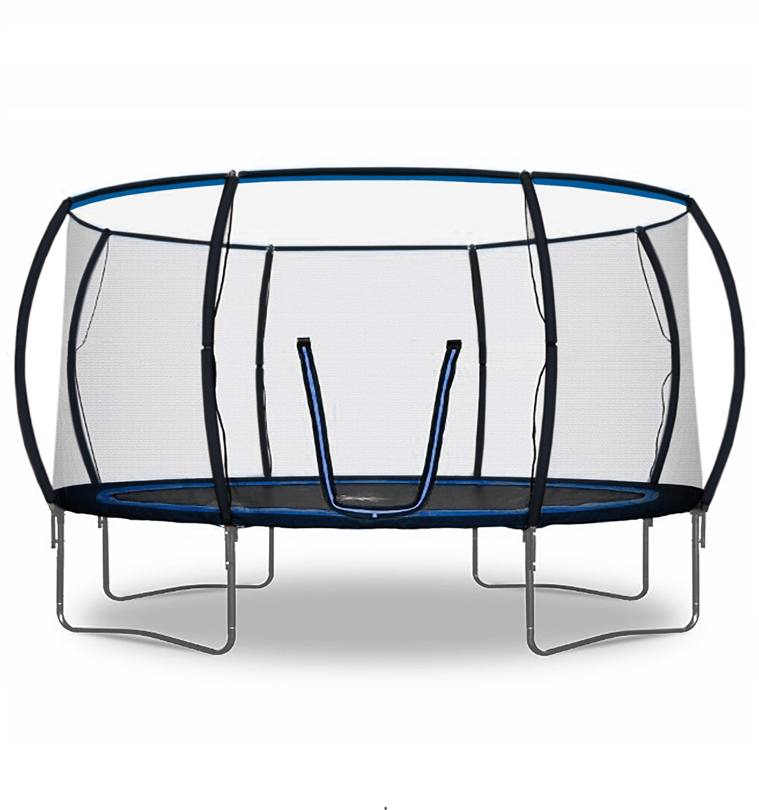 Rebo Jump Zone Ii Trampoline With Halo Safety Enclosure 2020 Model 14ft Ebay
