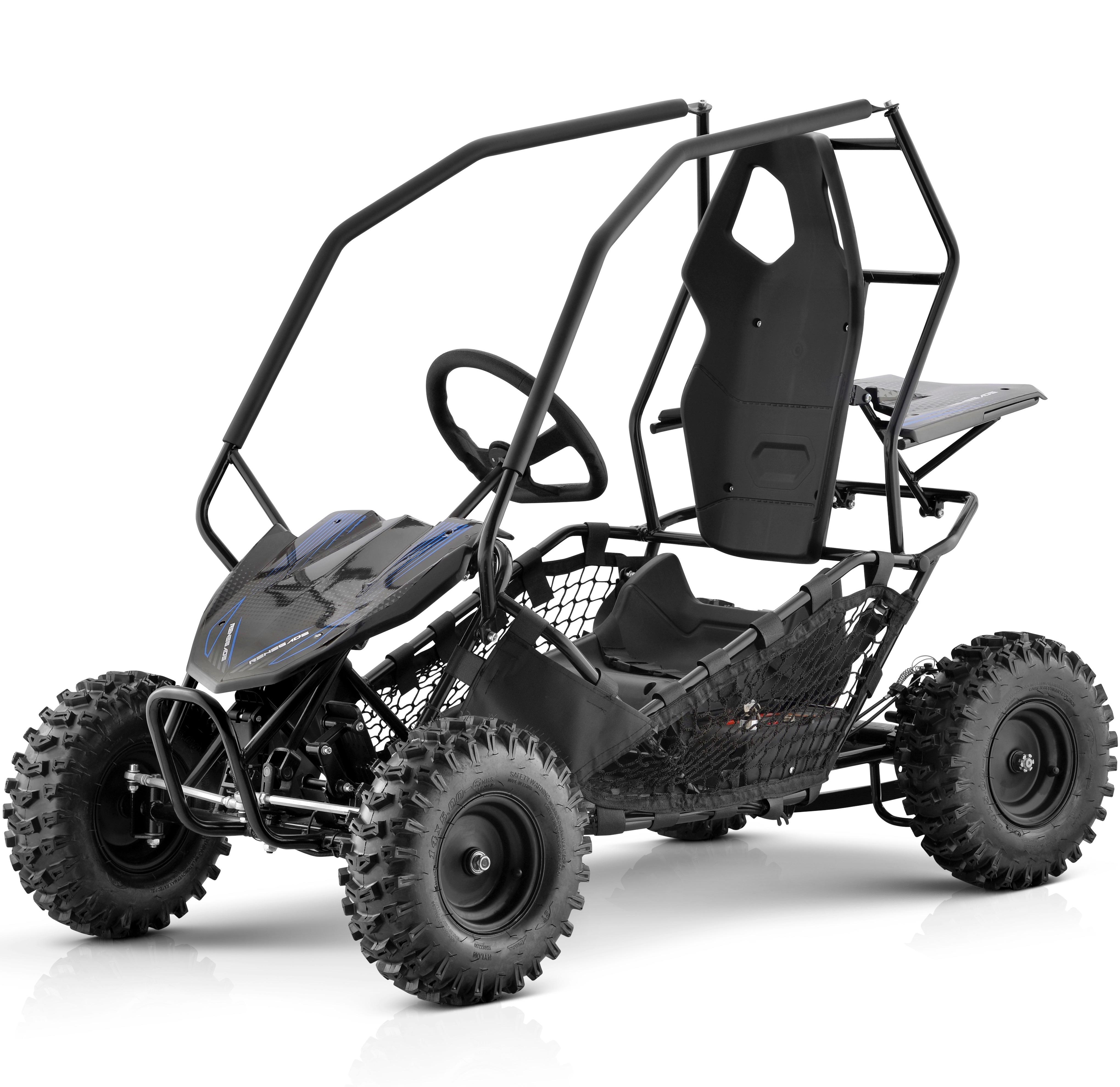 Renegade 36v Gk500 Electric Rechargeable Off Road Go Kart Black Ebay