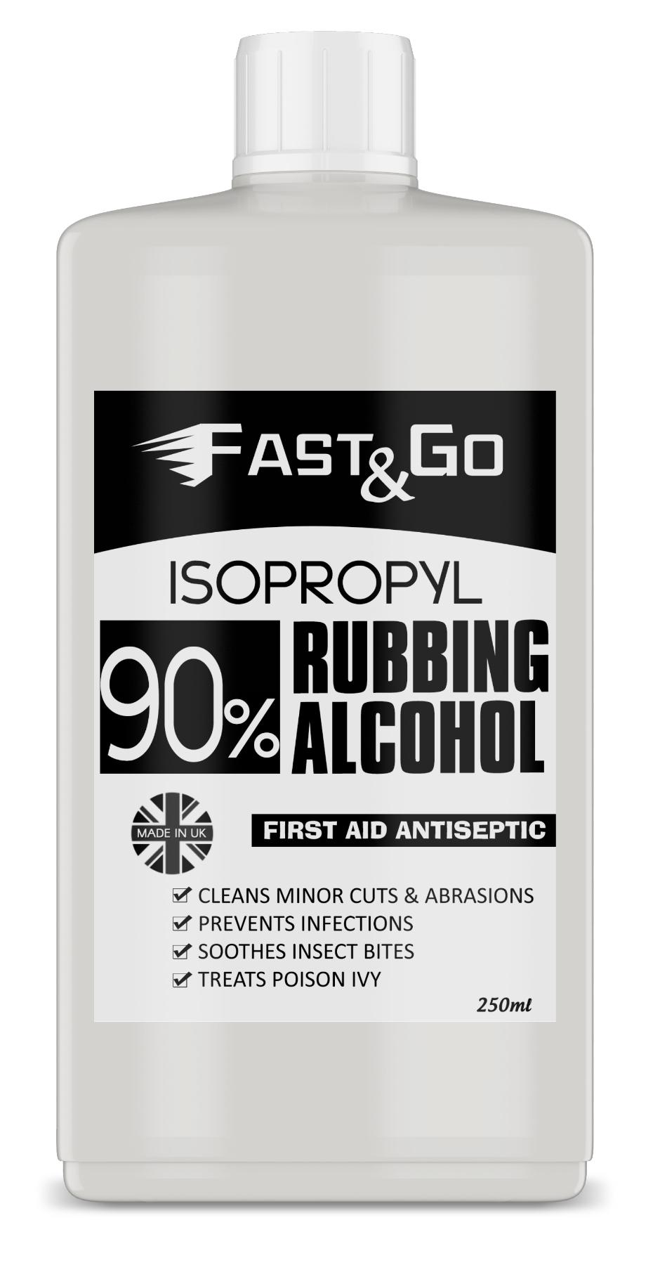 Fast Aid Birmingham Solihull: Fast & Go Isopropyl Rubbing Alcohol 90% First Aid