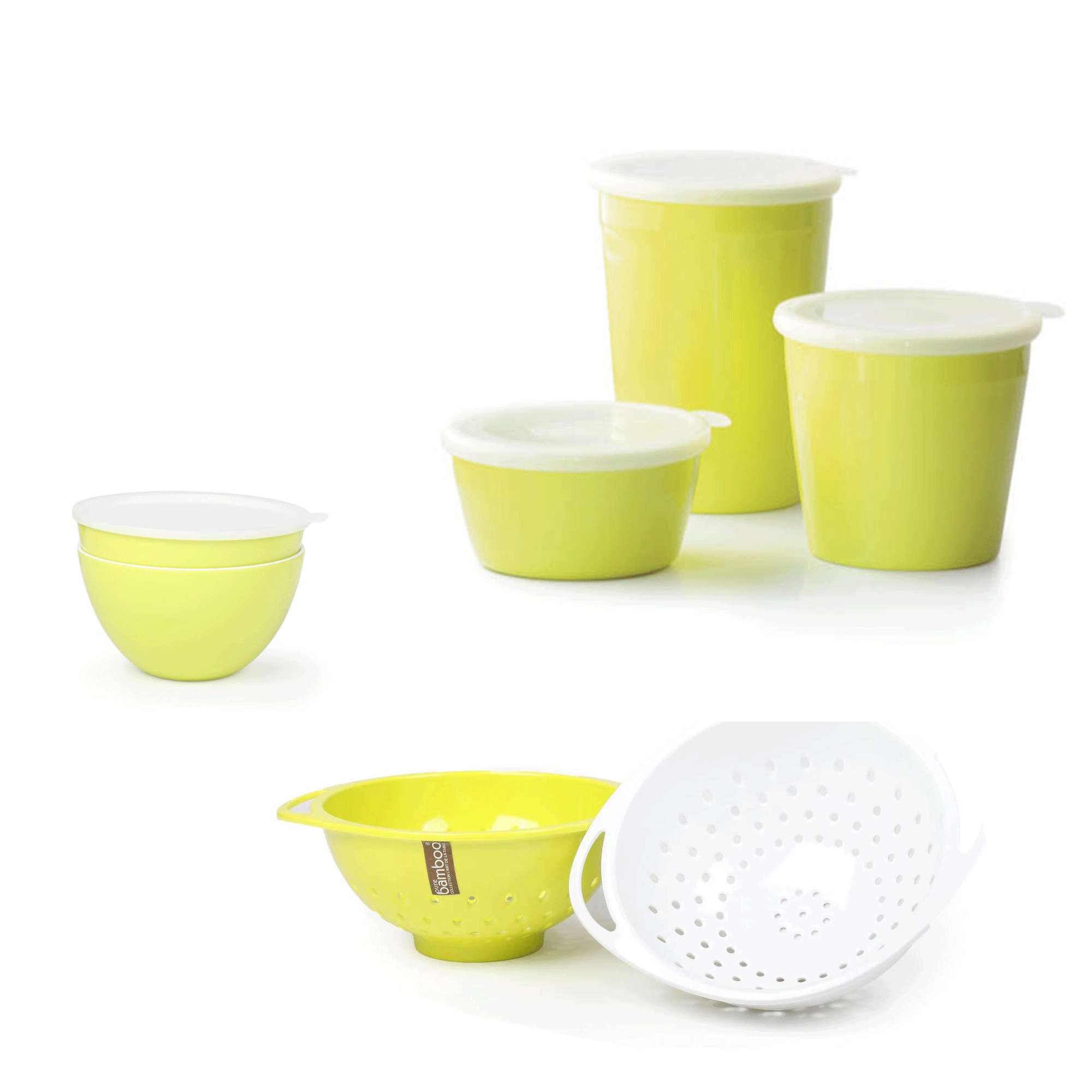 Set of 5 Food Storage Container Salad Bowls with Lid 2 x Colander