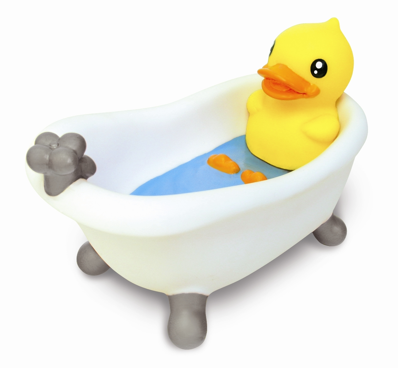 Sentinel B Duck Bathroom Soap Dish Holder Kids Childrens Rubber Gift Box Tray Basket