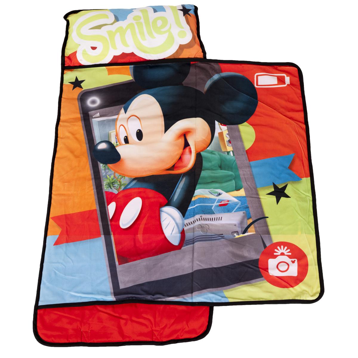 Disney Sleeping Bag Pillow Padded Sleepover Nap Mat Bed