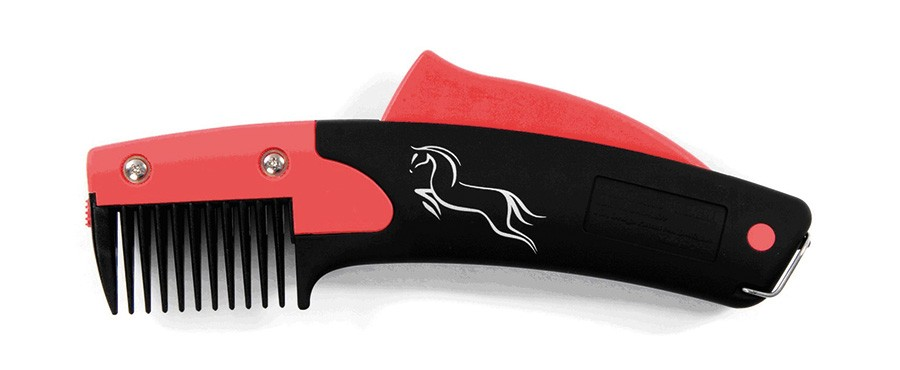 Shires Equestrian SoloRake Mane Trimming Horse Grooming Red One Size