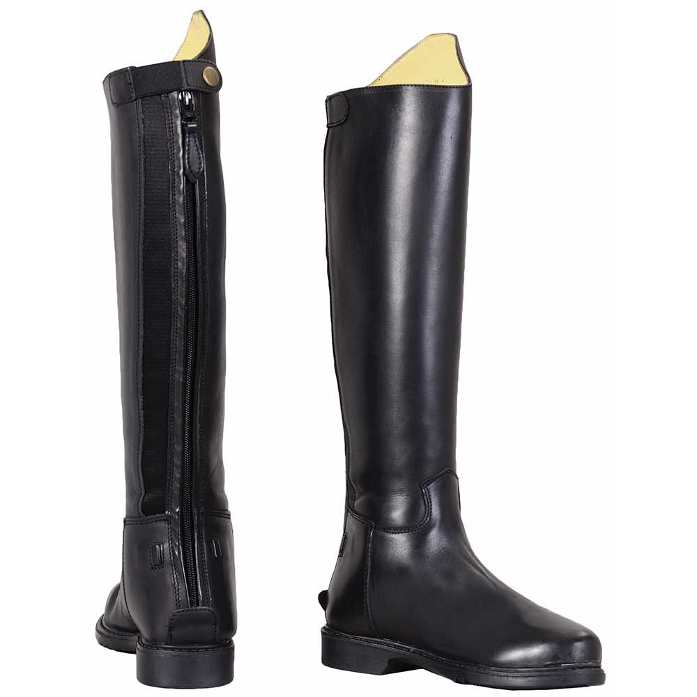 Tuffrider Baroque Zip Dress Riding Boots with Spanish Cut and Round Toe Mens