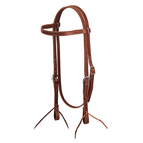 """Brown Weaver Leather 5//8/"""" Wide Browband Headstall with Single-Ply Throat"""