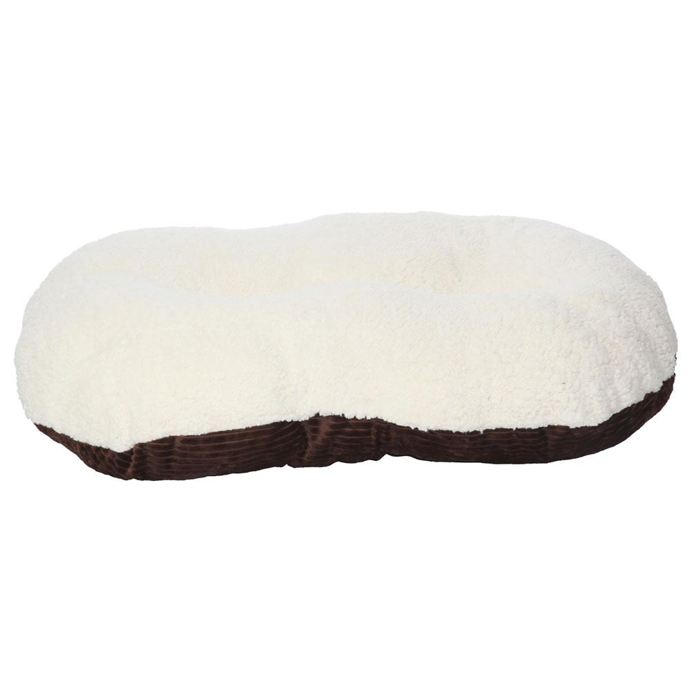 Bunty-Oval-Dog-Pet-Puppy-Cat-Bed-Fleece-Round-Cushion-Hard-Wicker-Basket-Insert