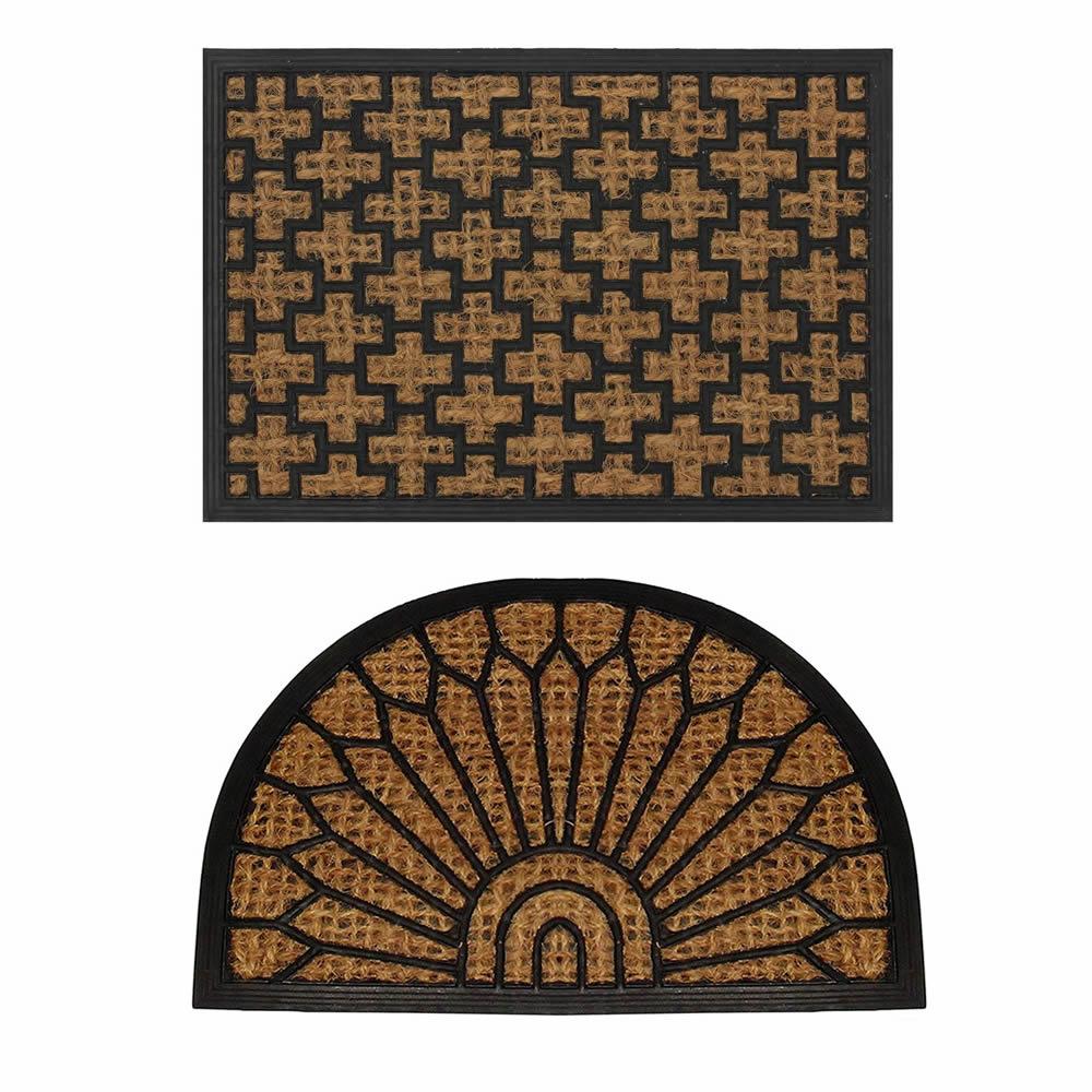 Natural Coir Rubber Non Slip Doormat Floor Entrance Door