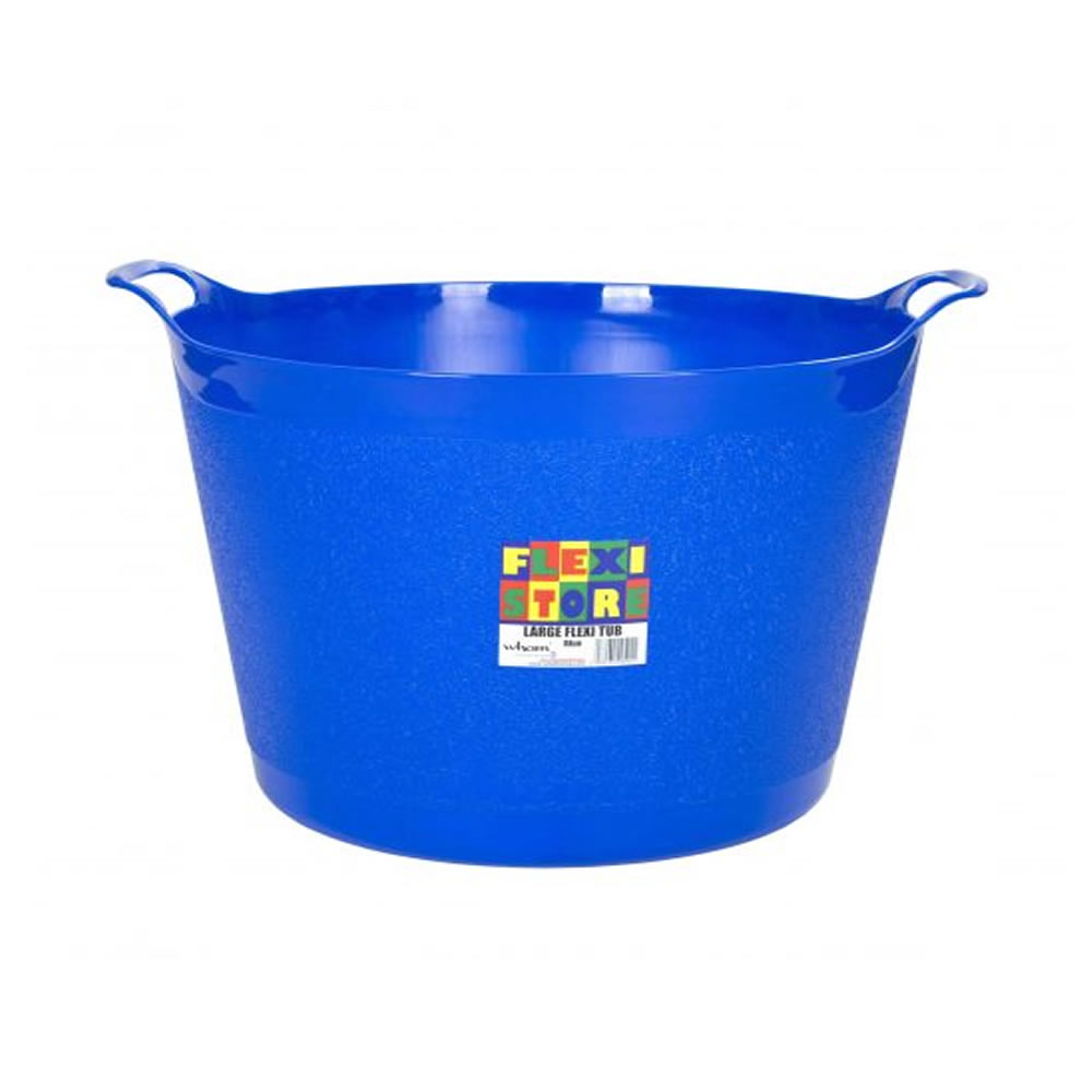 Strong Large Round Flexible Plastic Storage Tub Bucket Basket with ...