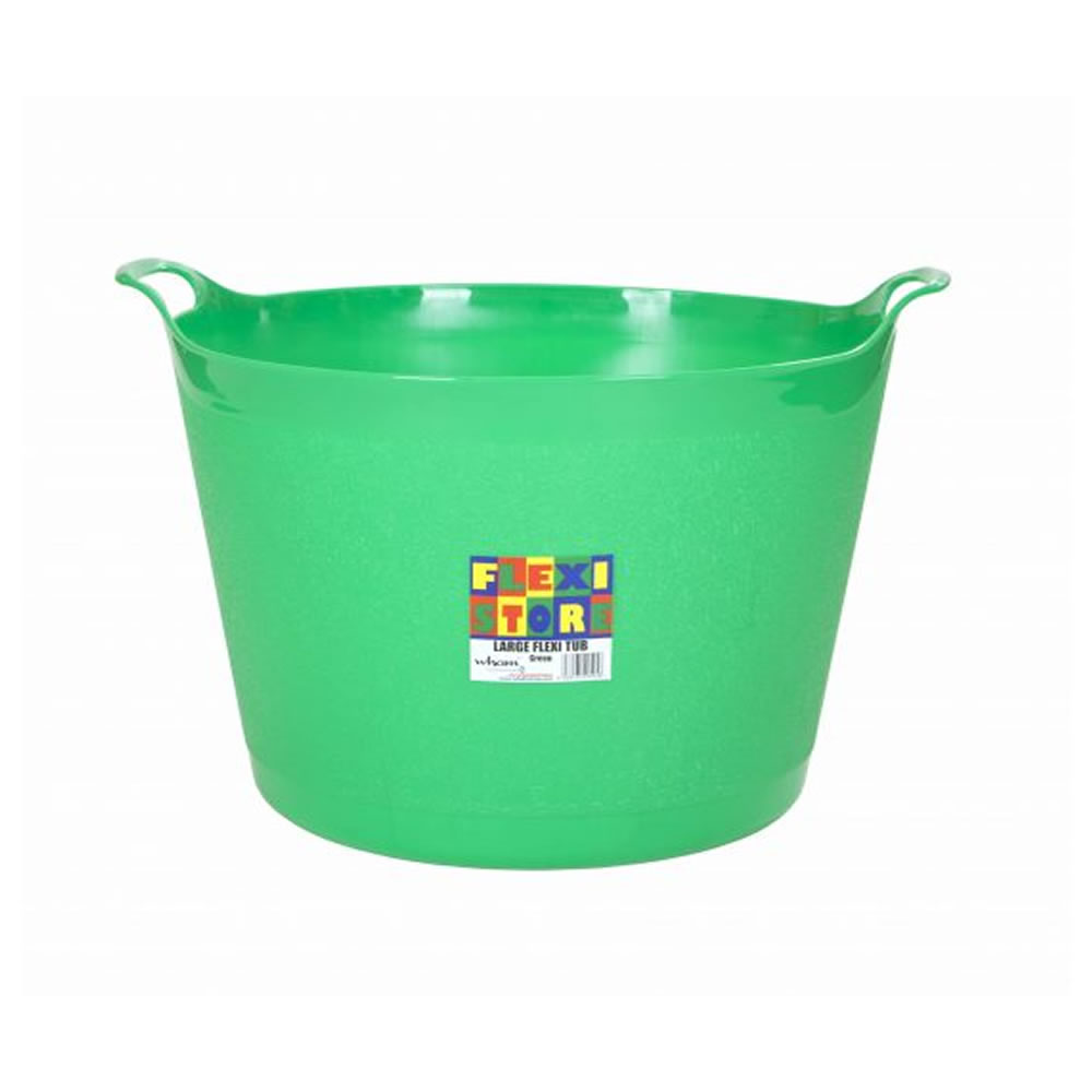 Sentinel Strong Large Round Flexible Plastic Storage Tub Bucket Basket With Handles Litre