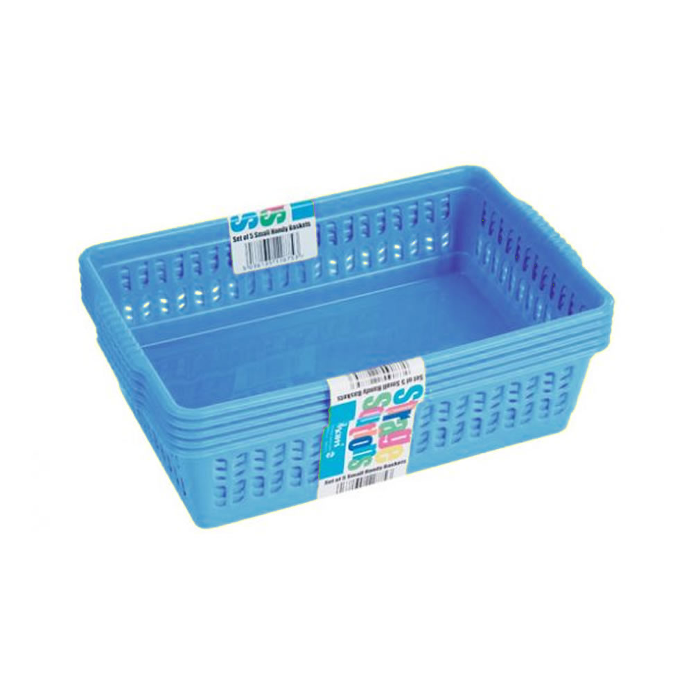 Amazing Plastic Storage Bins With Lids - Tray%20Baskets%20-%20Small%20-%20Blue  Pic_708687.jpg