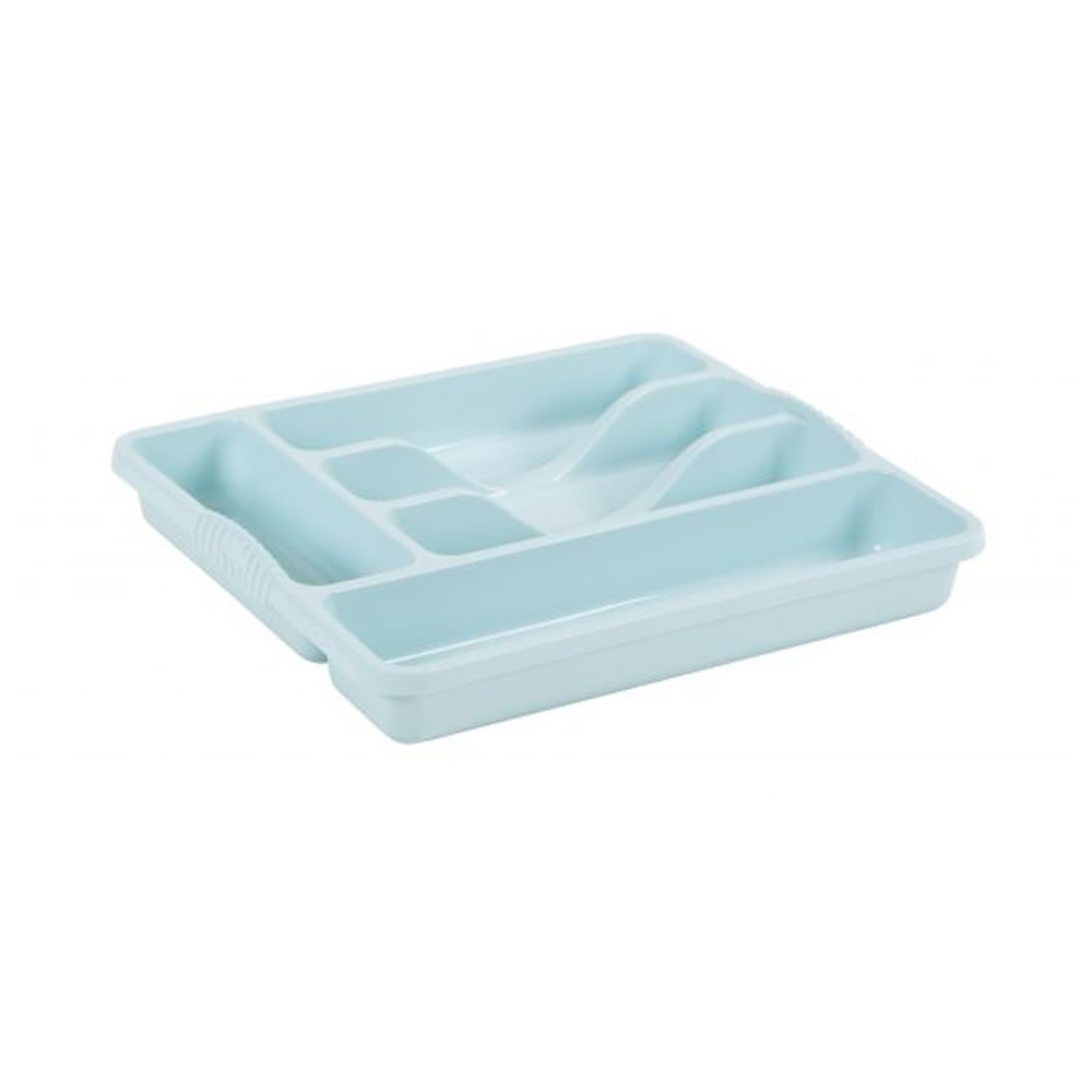 Plastic Kitchen Cutlery Tray Organiser Rack Holder Drawer Insert ...