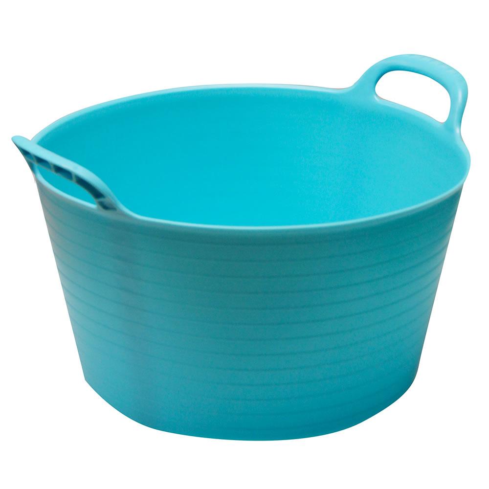 Strong Large Round Flexible Plastic Storage Tub Bucket Basket