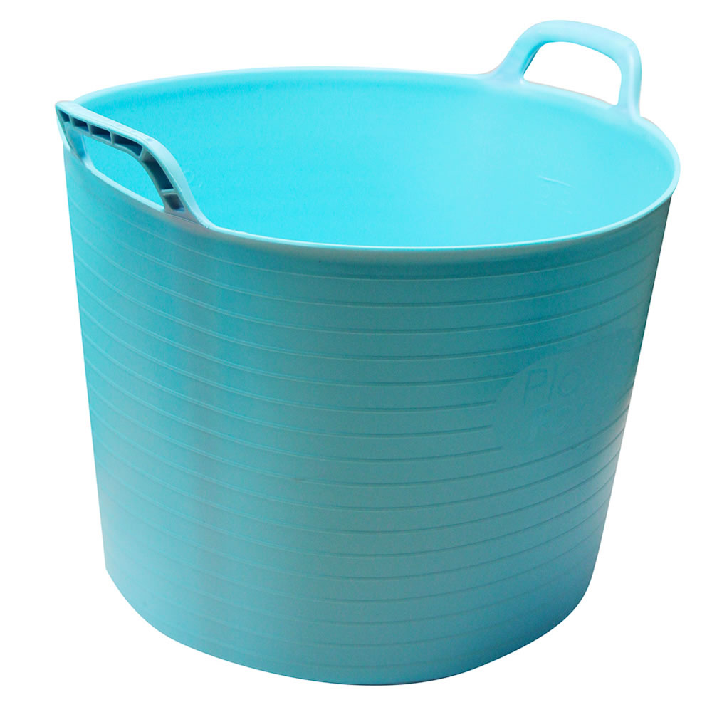 Sentinel Strong Large Round Flexible Plastic Storage Tub Bucket Basket Handles 15l 42l