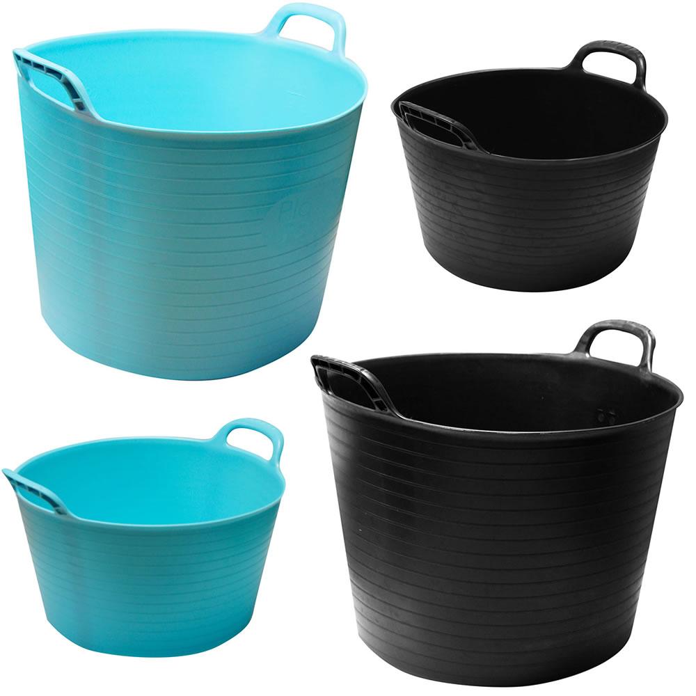 Strong Large Round Flexible Plastic Storage Tub Bucket