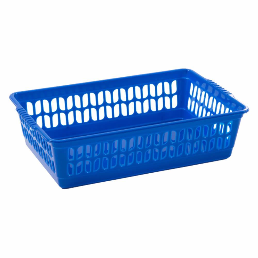Rectangle-Home-House-Kitchen-Office-Study-Plastic-Storage-Basket-Box-Sizes-S-M-L thumbnail 15