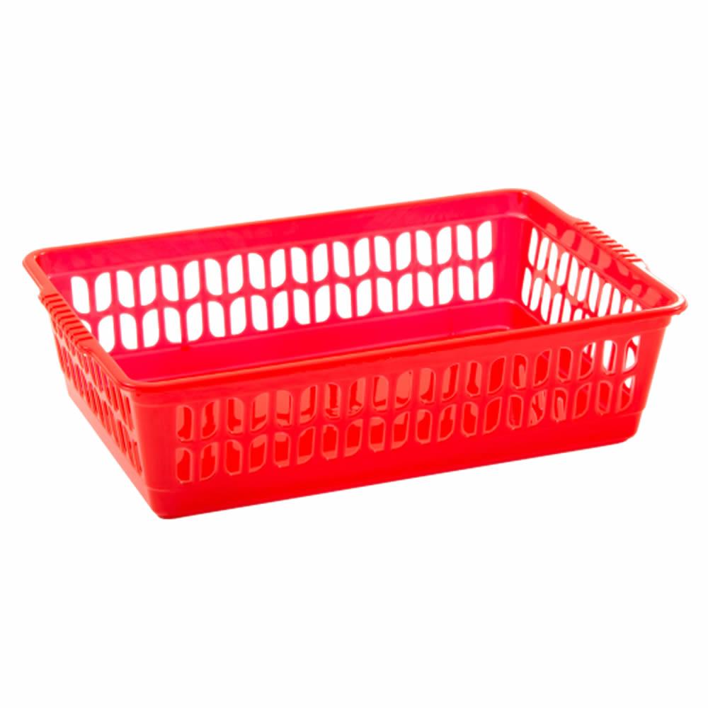 Rectangle-Home-House-Kitchen-Office-Study-Plastic-Storage-Basket-Box-Sizes-S-M-L thumbnail 21
