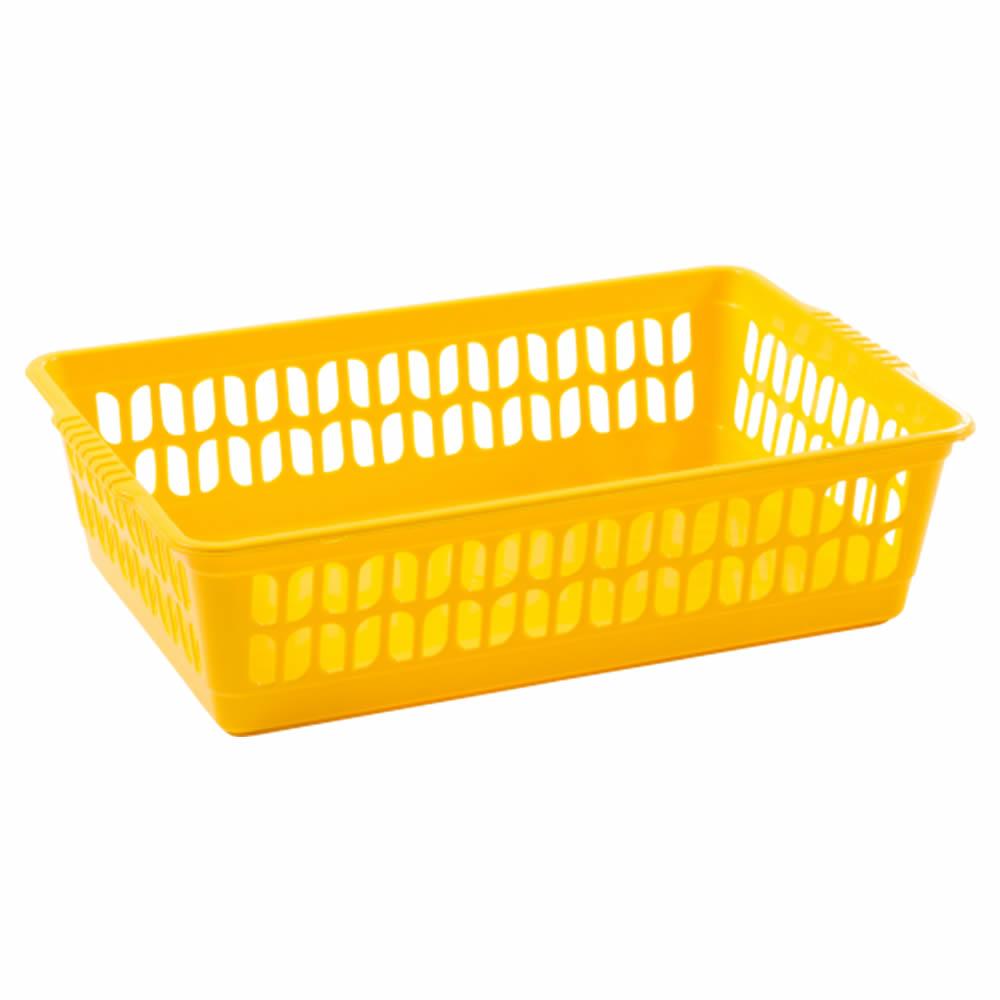 Rectangle-Home-House-Kitchen-Office-Study-Plastic-Storage-Basket-Box-Sizes-S-M-L thumbnail 24