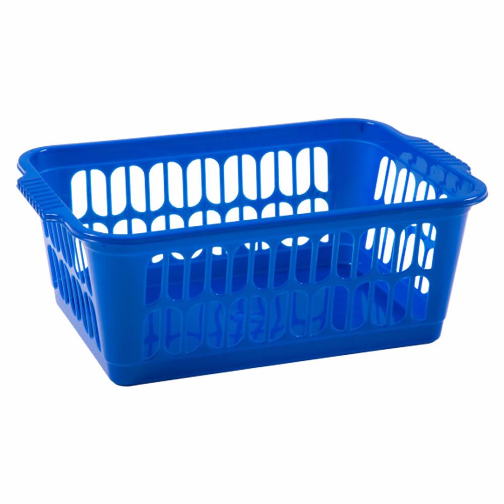 Rectangle-Home-House-Kitchen-Office-Study-Plastic-Storage-Basket-Box-Sizes-S-M-L thumbnail 14