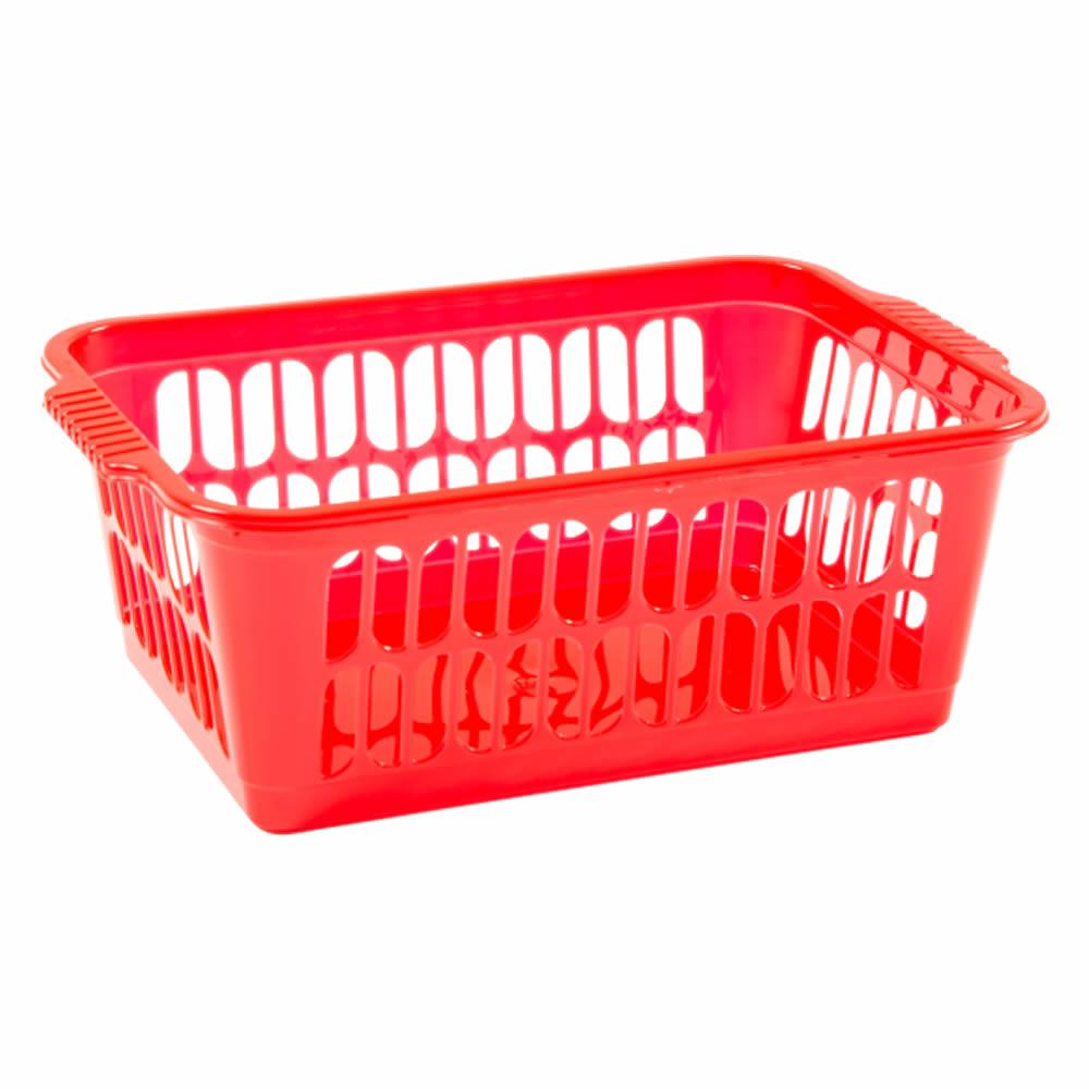 Rectangle-Home-House-Kitchen-Office-Study-Plastic-Storage-Basket-Box-Sizes-S-M-L thumbnail 20
