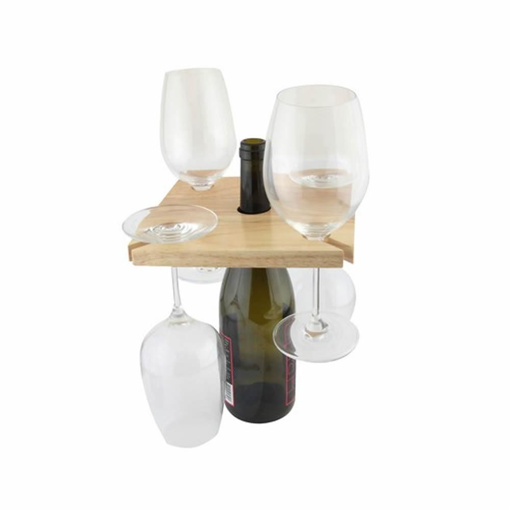 Wood-Home-House-Wine-Bottle-amp-Glass-Holder-Rack-Display-Storage-Board-Gift