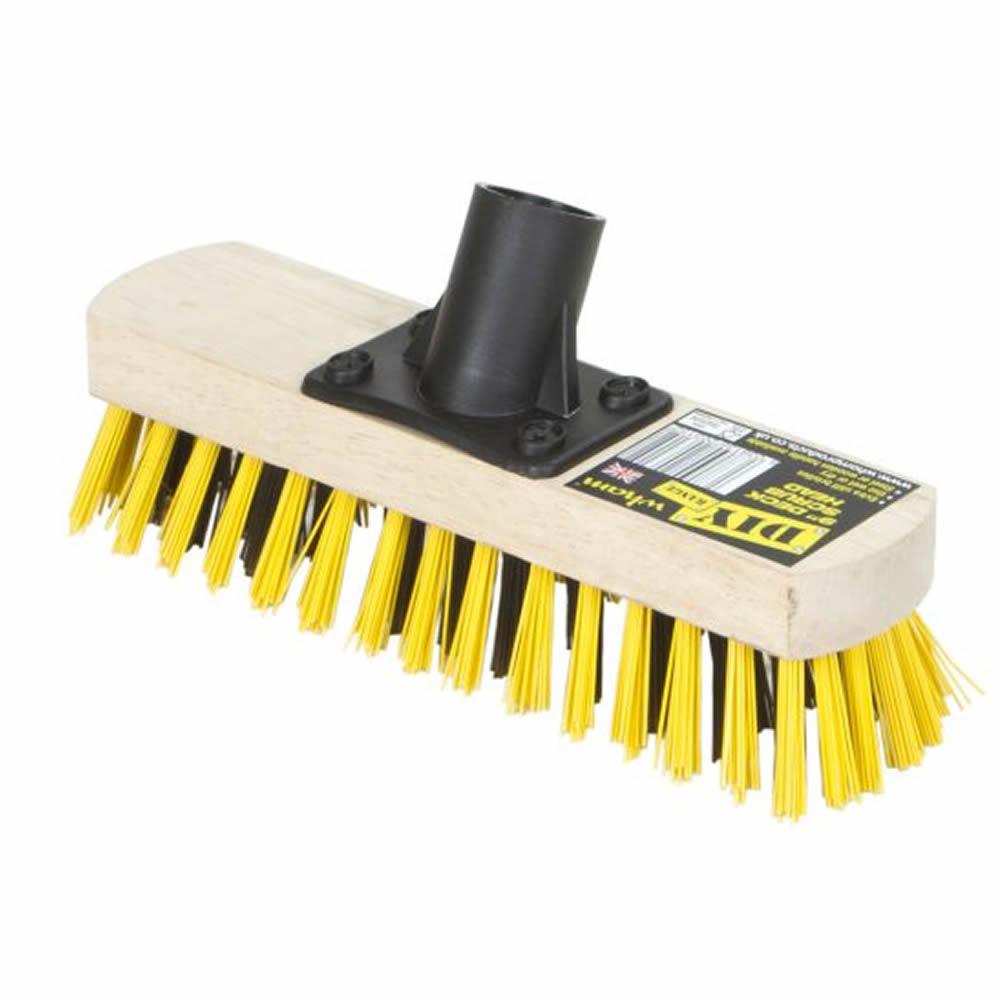 Stiff-Bristle-Outdoor-Farm-Yard-Driveway-Broom-Brush-Sweeping-Head-9-034-13-034