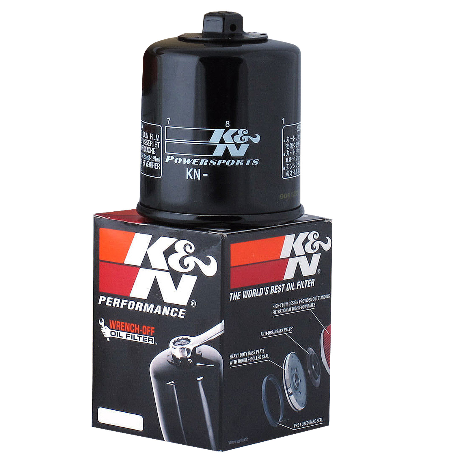 K/&N KN-204 Motorcycle//Powersports Performance High Oil Filter