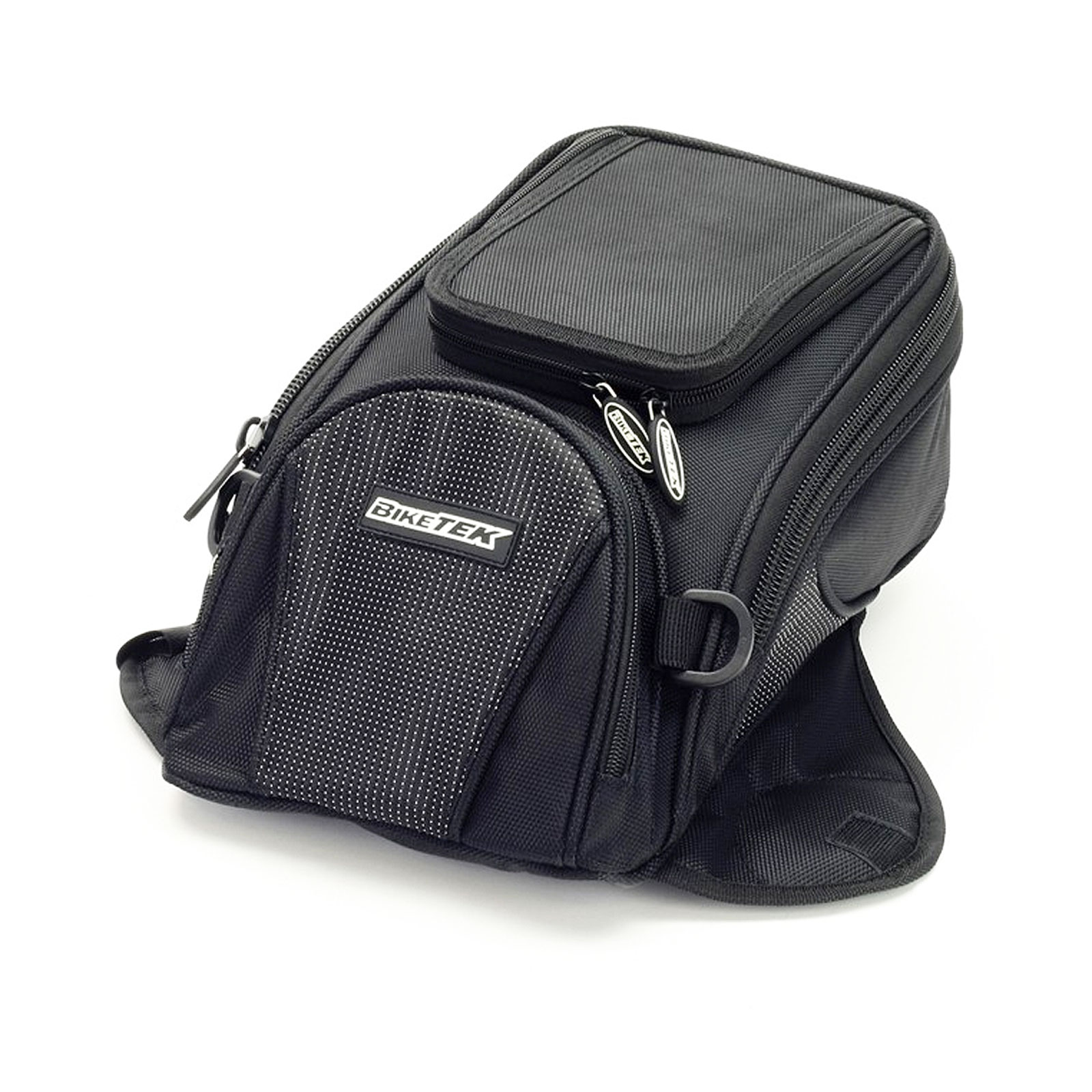 Biketek Motorcycle Mini Magnetic Tank Bag 8 Litre With GPS Pod 8L Black