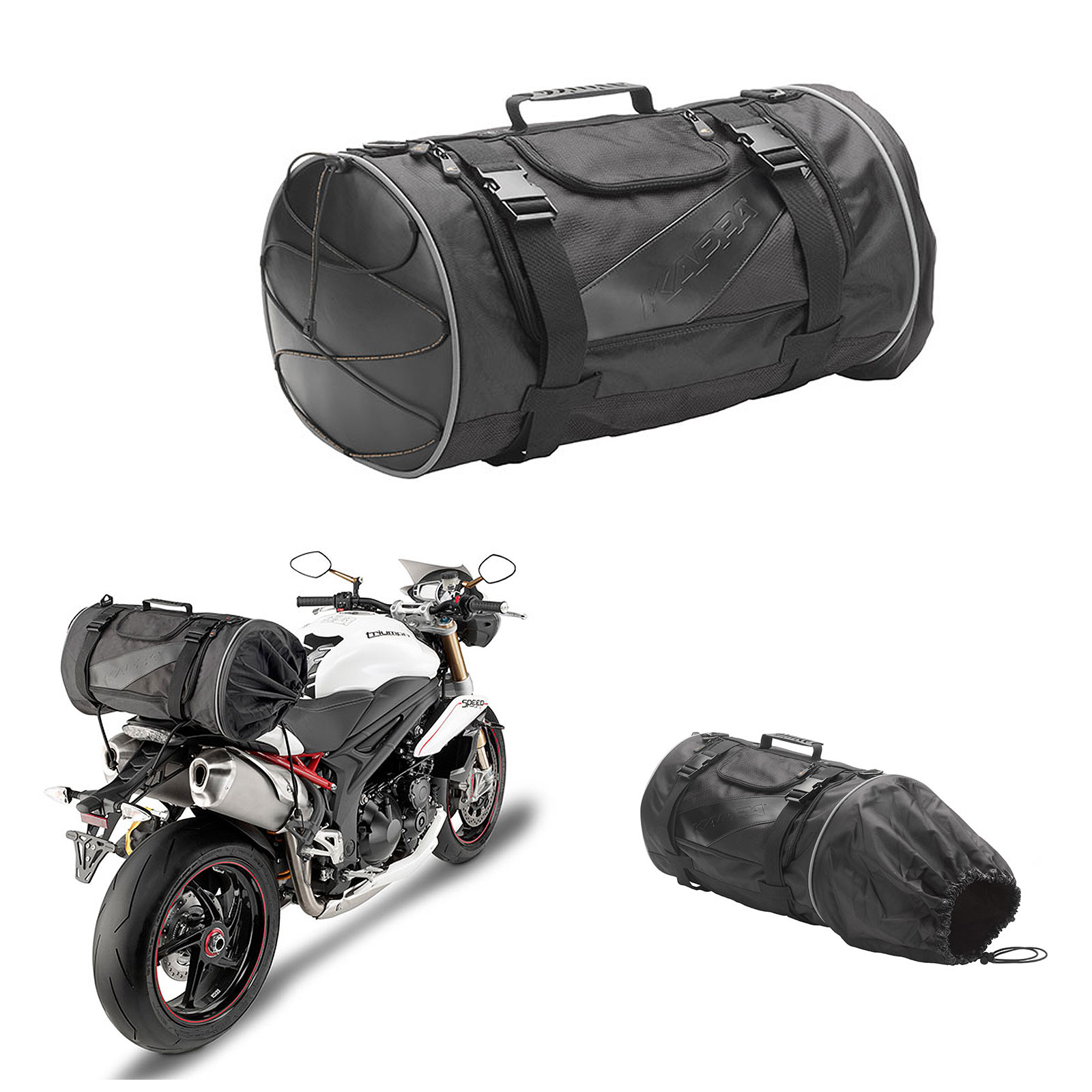 12d3a18a3bd Details about Kappa By Givi Racer Motorcycle Luggage Tail Bag Black 37 Litre